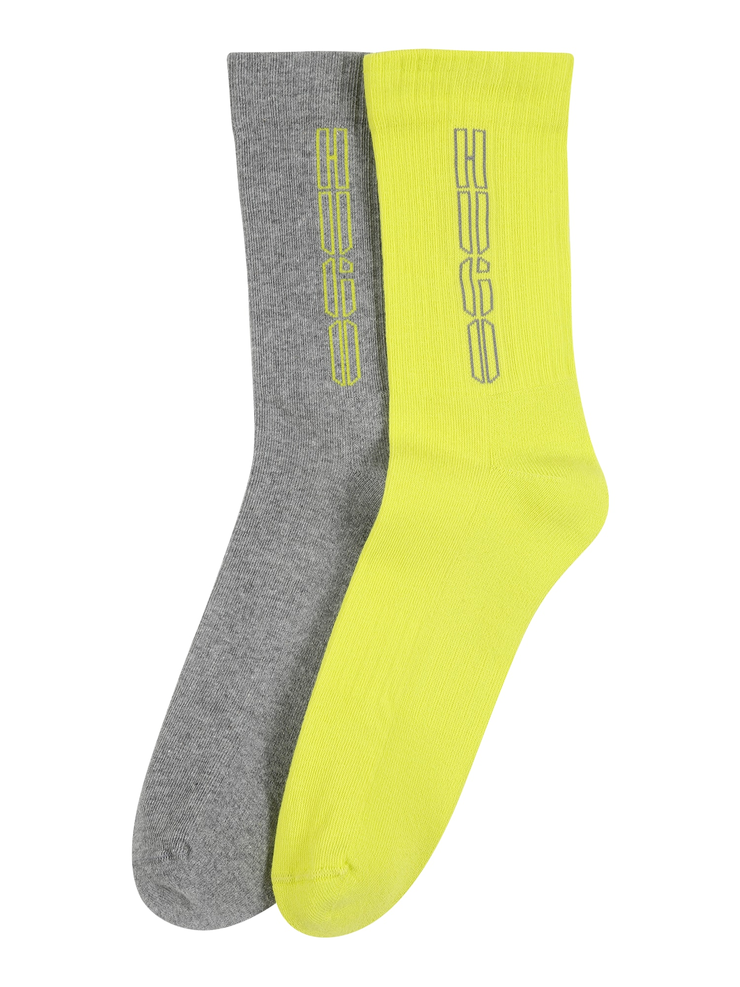 HUGO Ponožky  šedá / žlutá