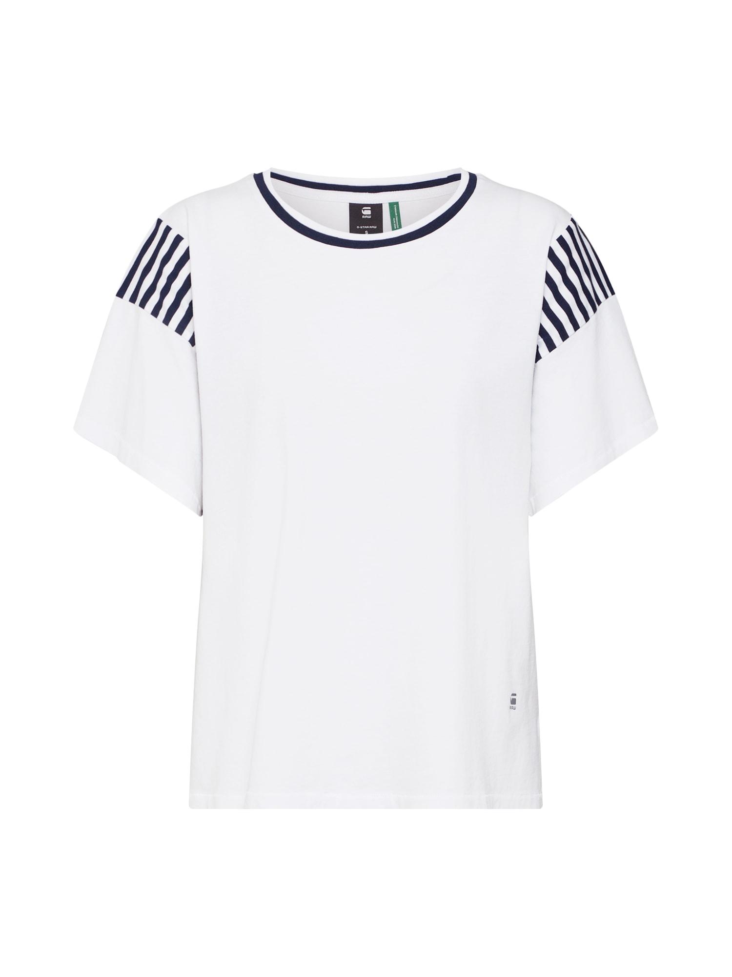 Tričko Norcia loose námořnická modř bílá G-STAR RAW