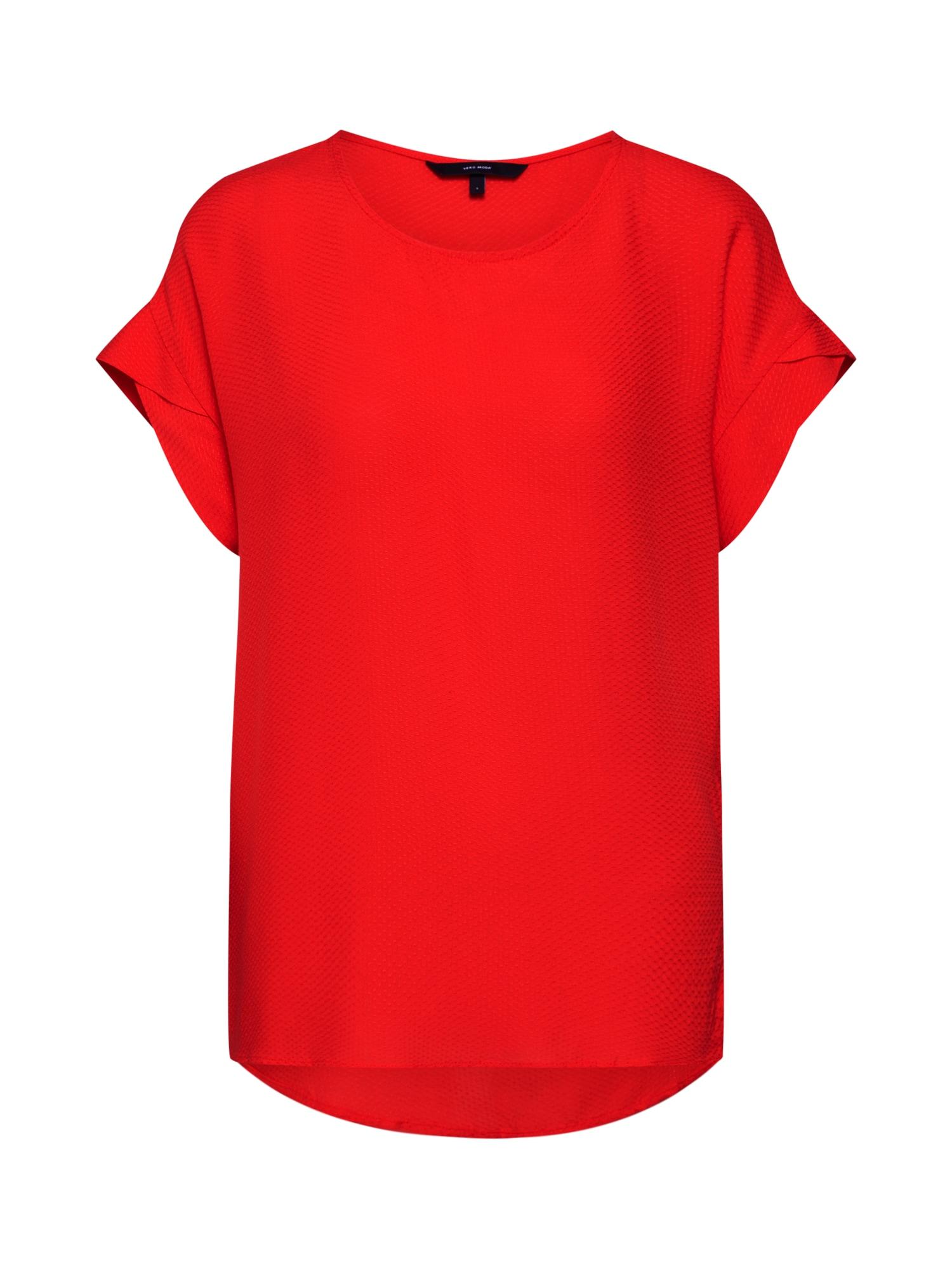 Tričko BETTY DOT červená VERO MODA