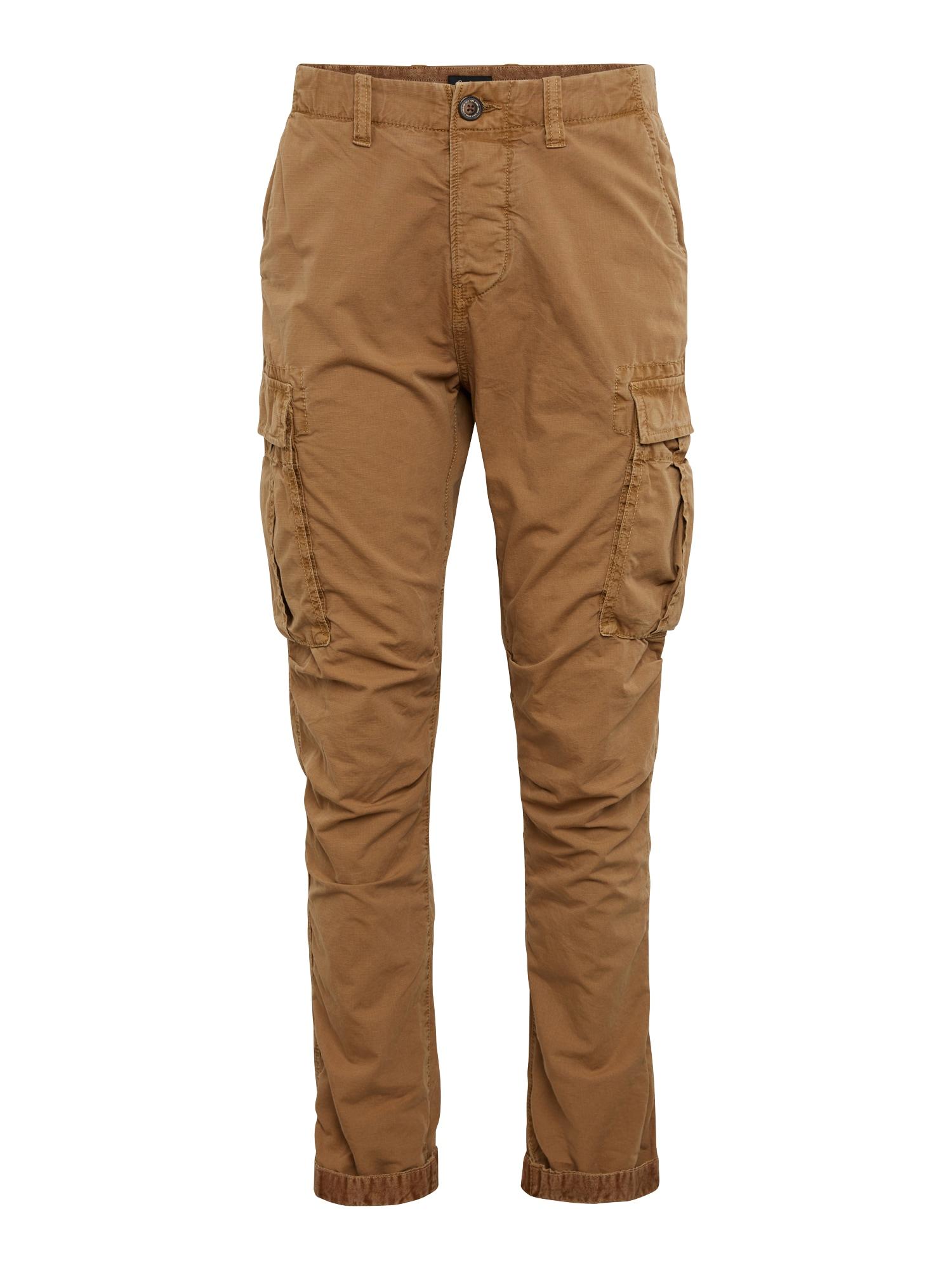 Pepe Jeans Heren Cargobroek JOURNEY RIBSTOP beige