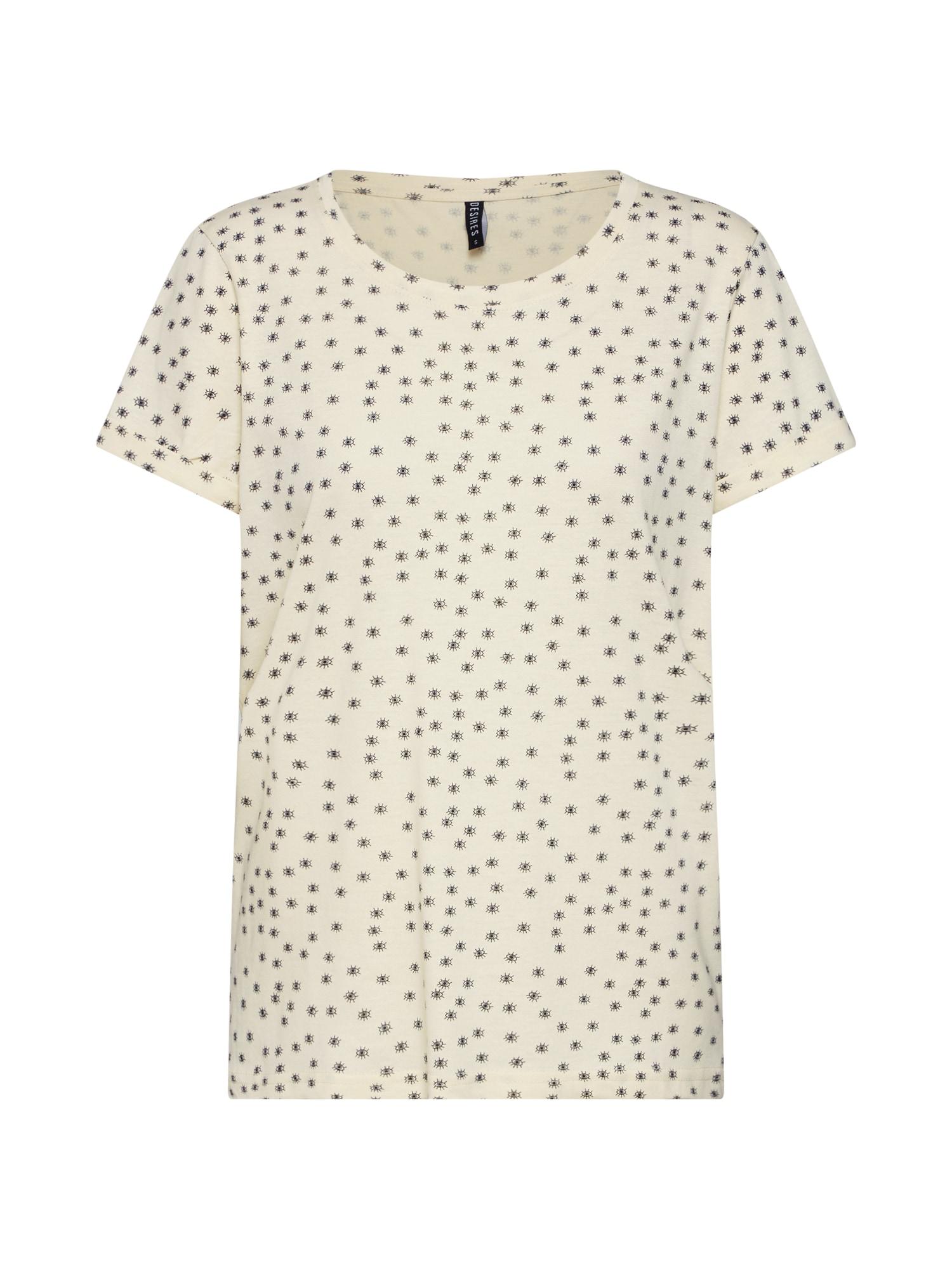 Tričko Vania béžová světlemodrá Desires