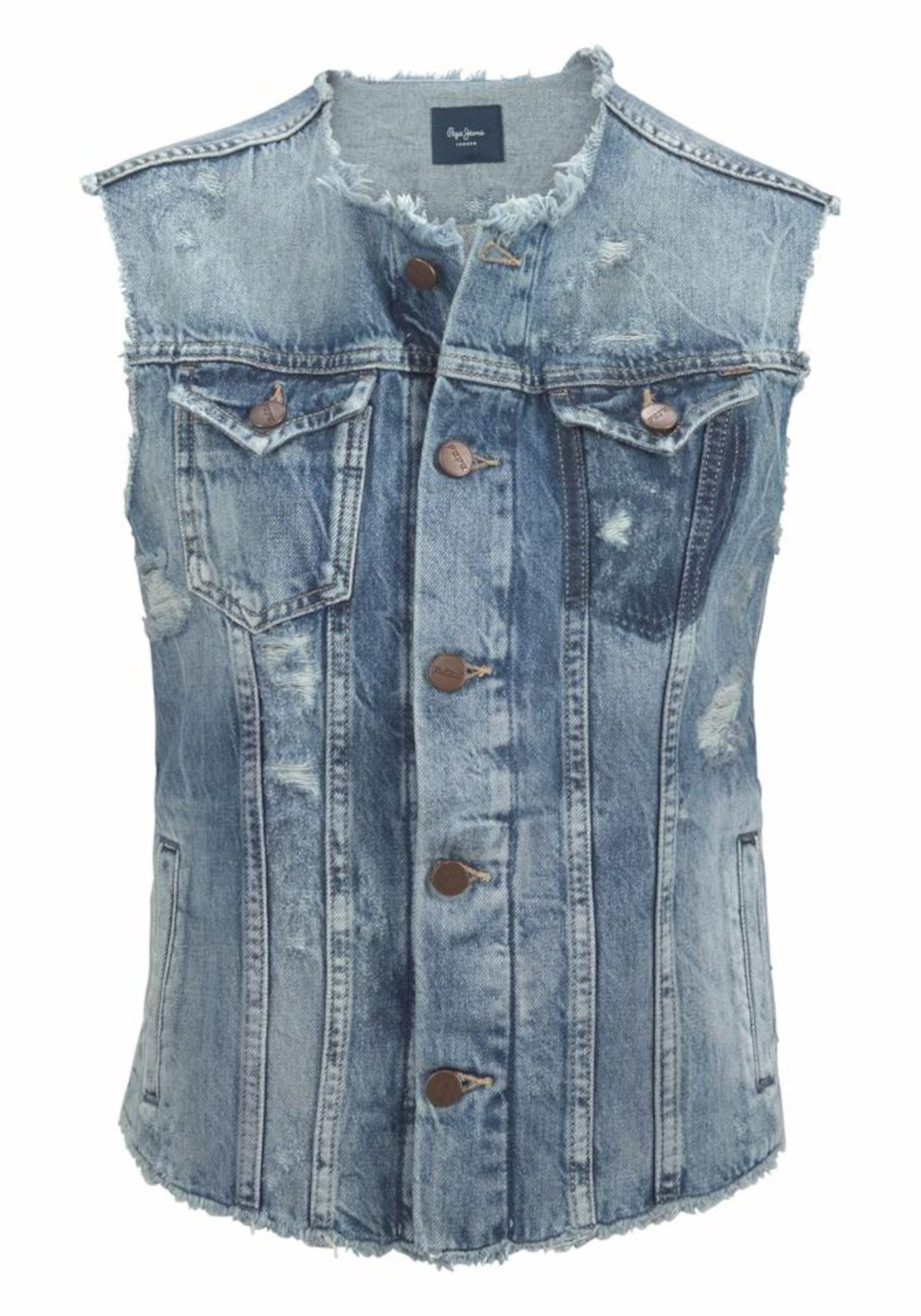 Pepe Jeans Dames Bodywarmer VALLEY blue denim