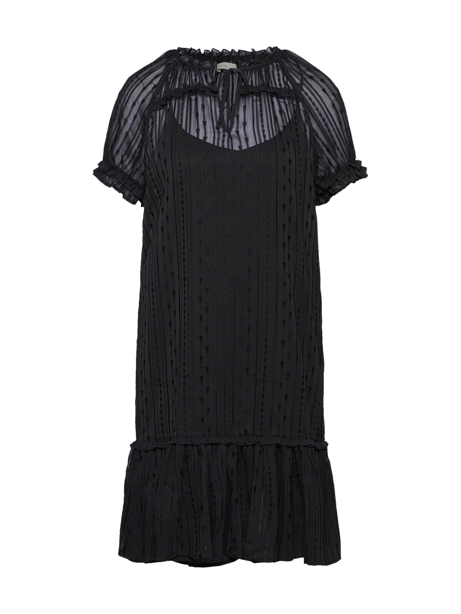 Košilové šaty černá Levete Room