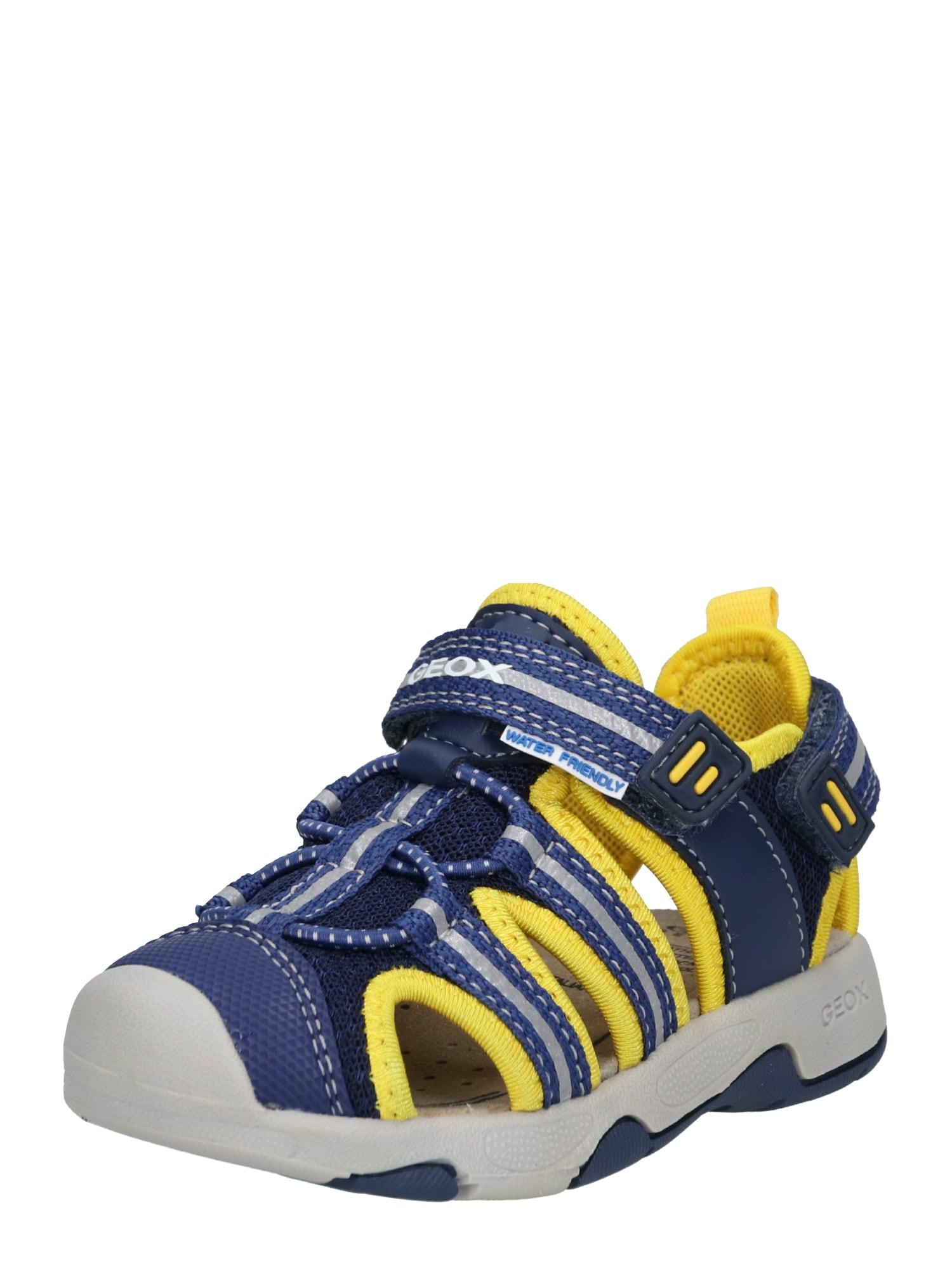 Otevřená obuv námořnická modř žlutá GEOX