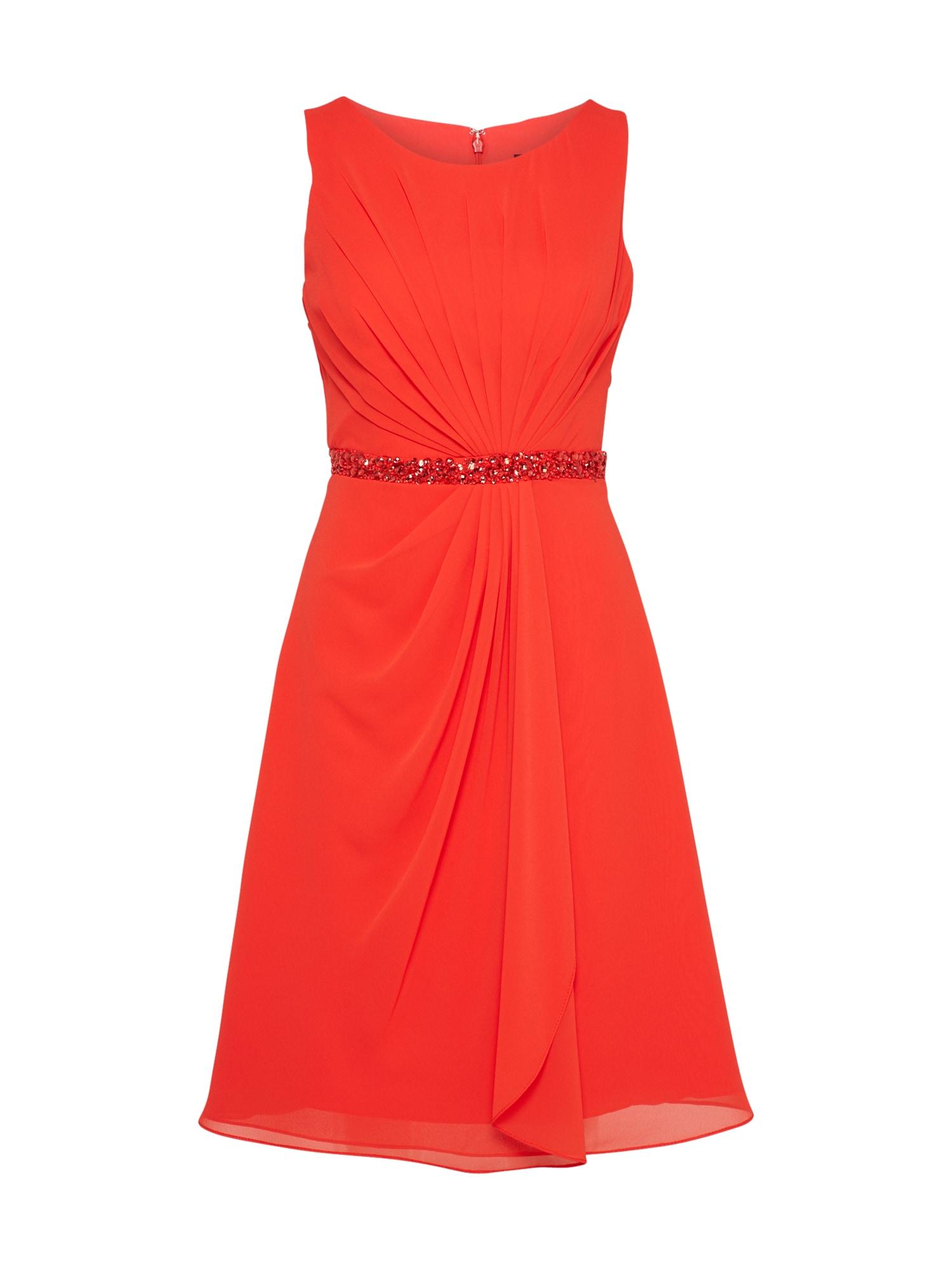 Koktejlové šaty MC181117 červená Mascara