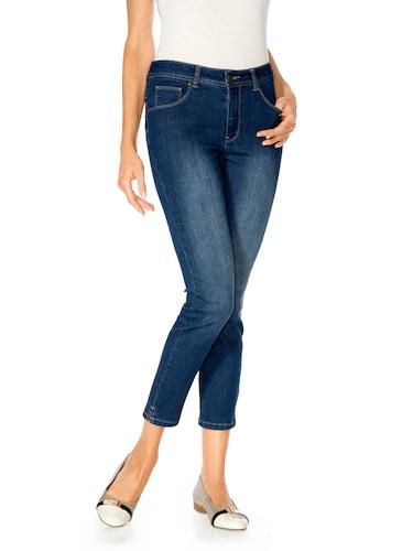 #Ashley #Brooke #By #Heine #Damen #Bodyform-7/8-Jeans #blau