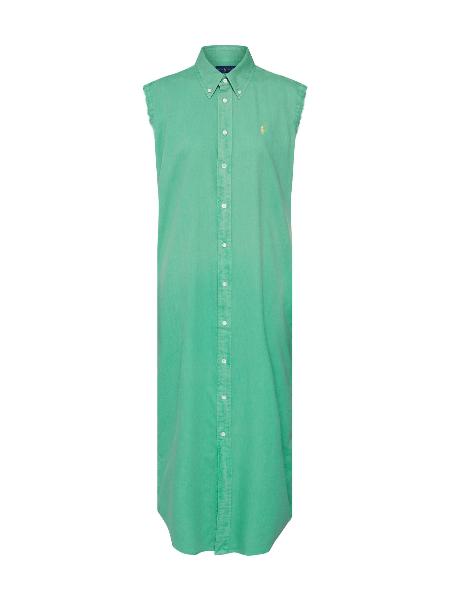 Košilové šaty SL STNFRD DR-SLEEVELESS-CASUAL DRESS zelená POLO RALPH LAUREN