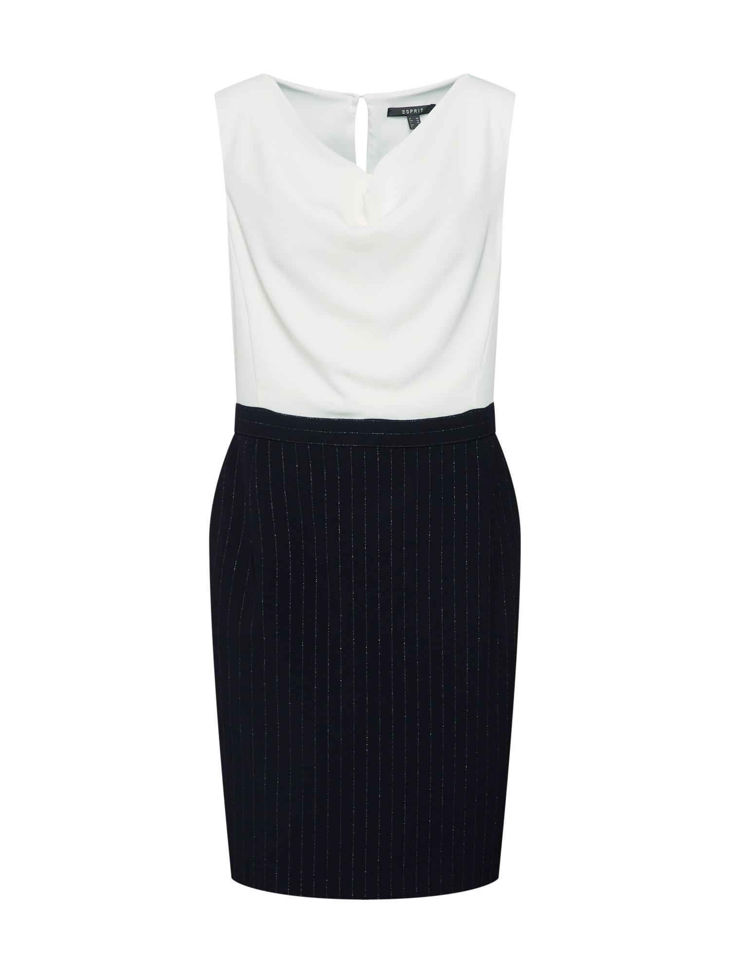 Šaty námořnická modř bílá Esprit Collection