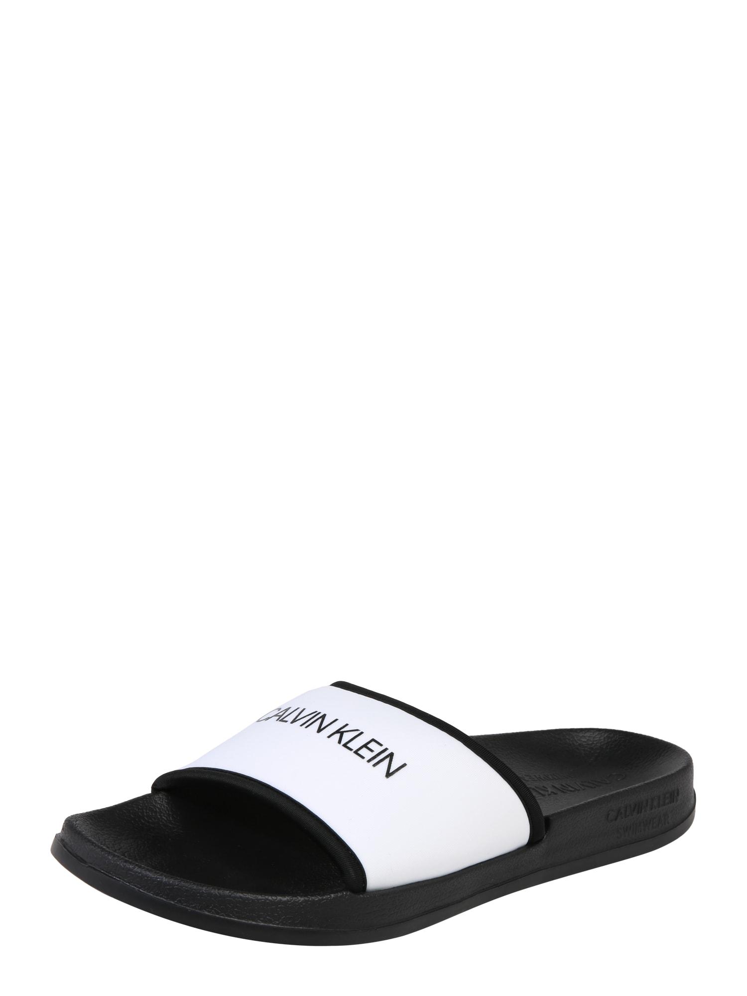 Pantofle SLIDE černá bílá Calvin Klein