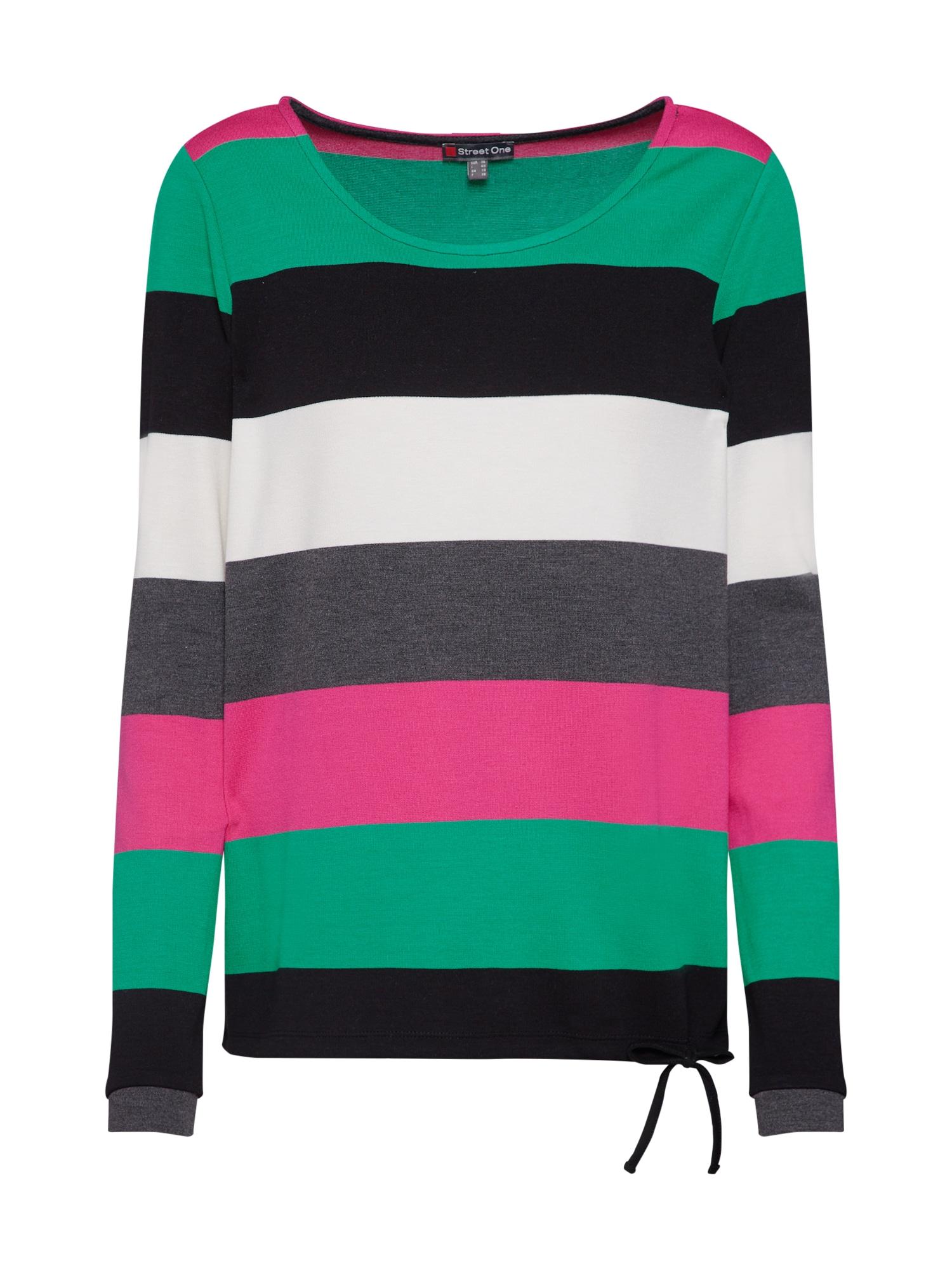 Tričko zelená pink černá STREET ONE