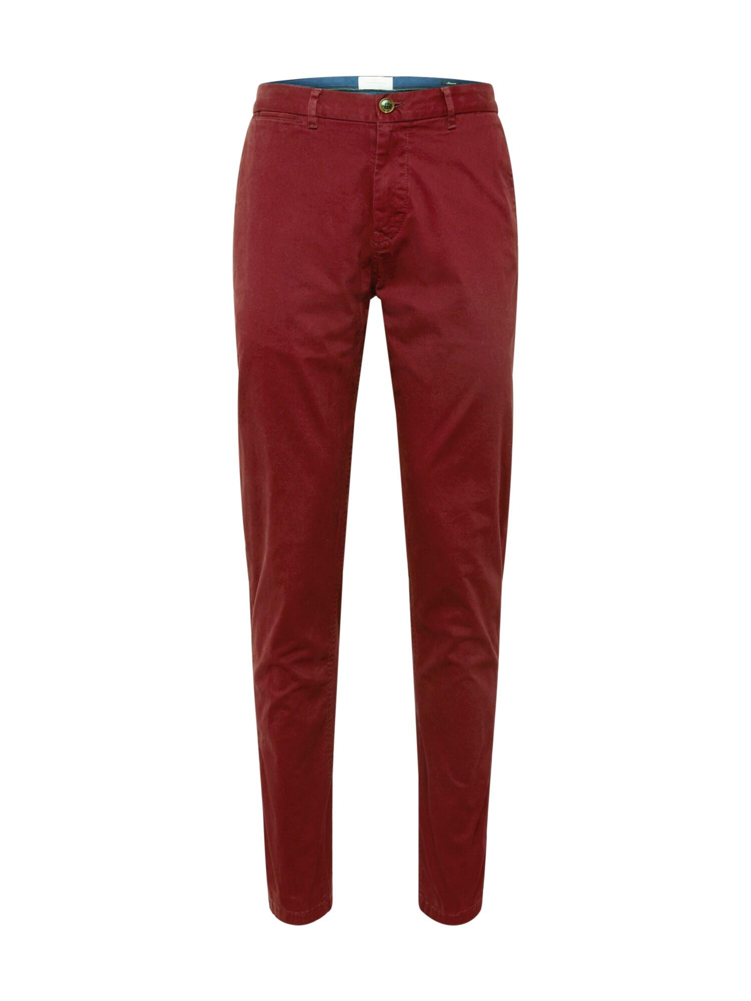 Chino kalhoty Stuart tmavě červená SCOTCH & SODA