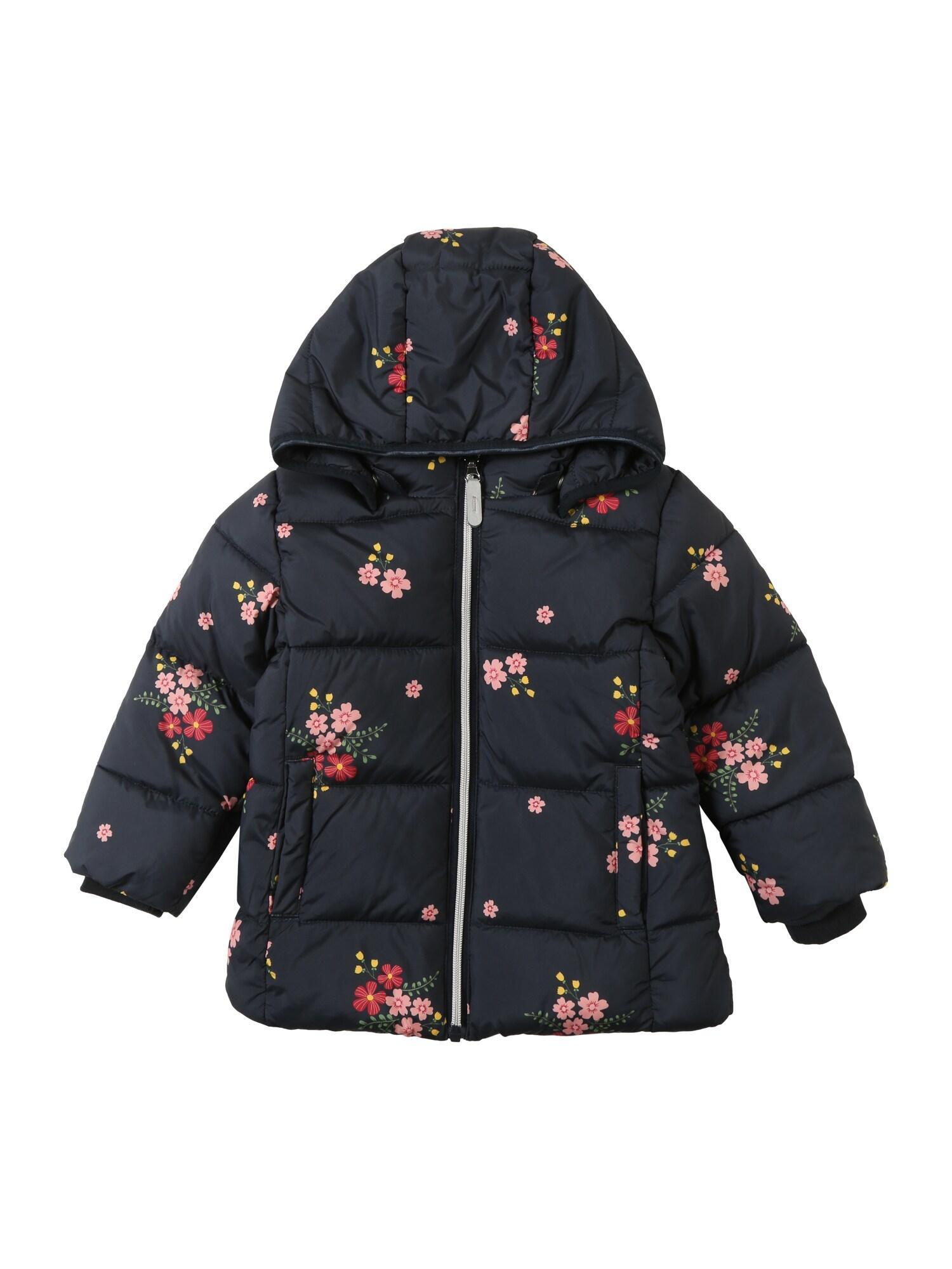Zimní bunda NMFMAY PUFFER JACKET1 tmavě modrá červená NAME IT