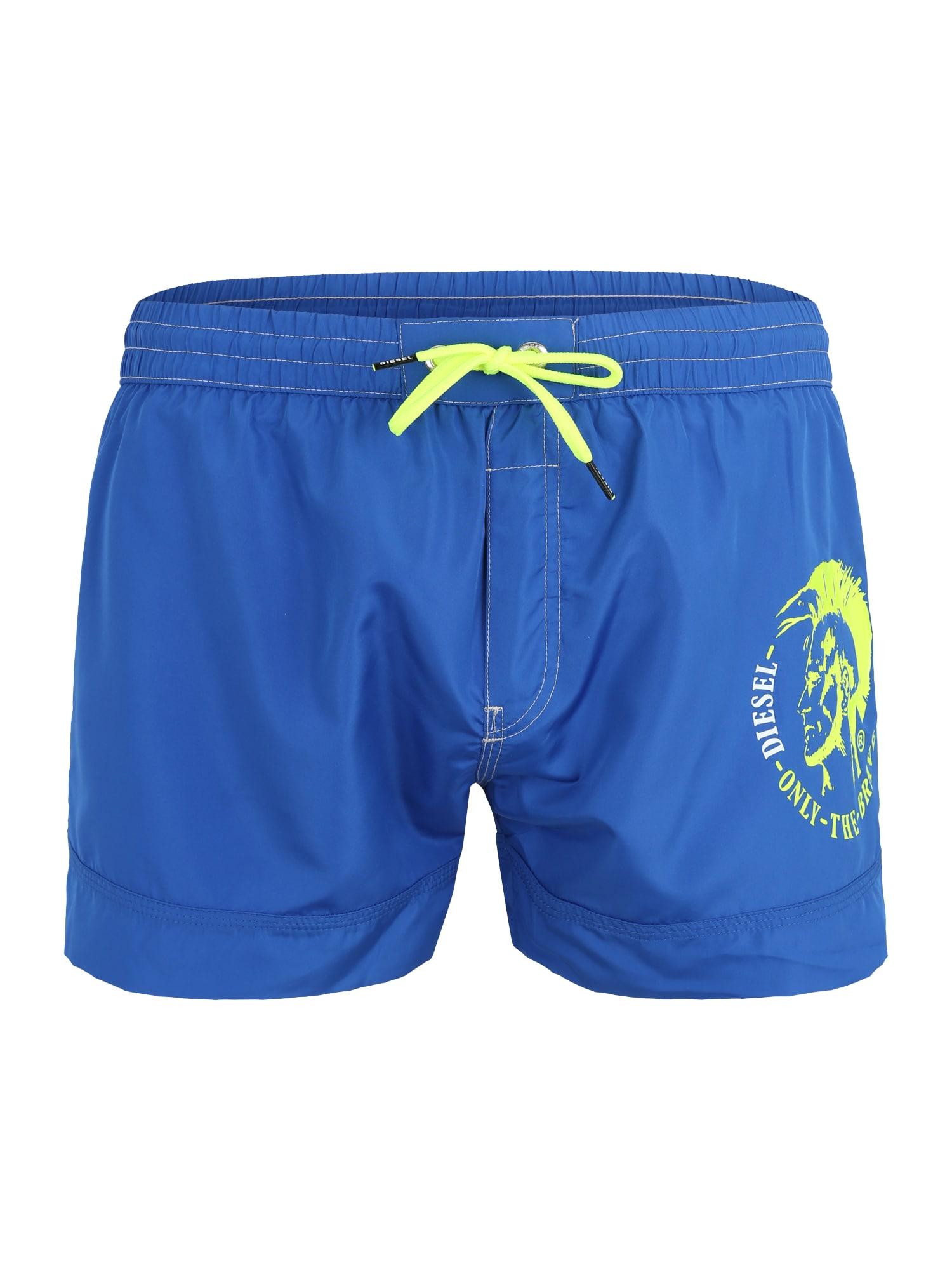 Plavecké šortky BMBX-SANDY  královská modrá  svítivě žlutá DIESEL