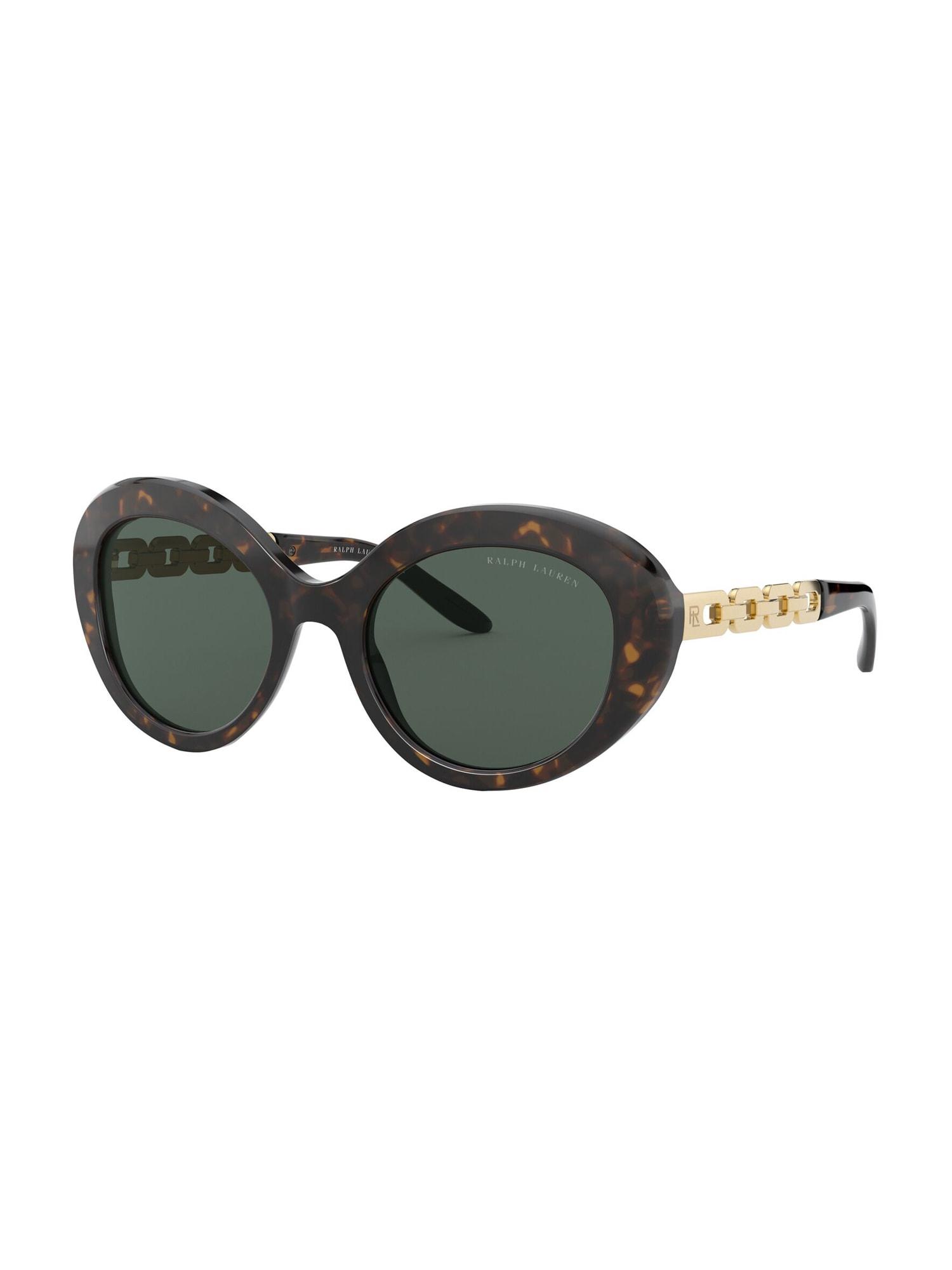 RALPH LAUREN Sluneční brýle  černá / tmavě hnědá / zlatá