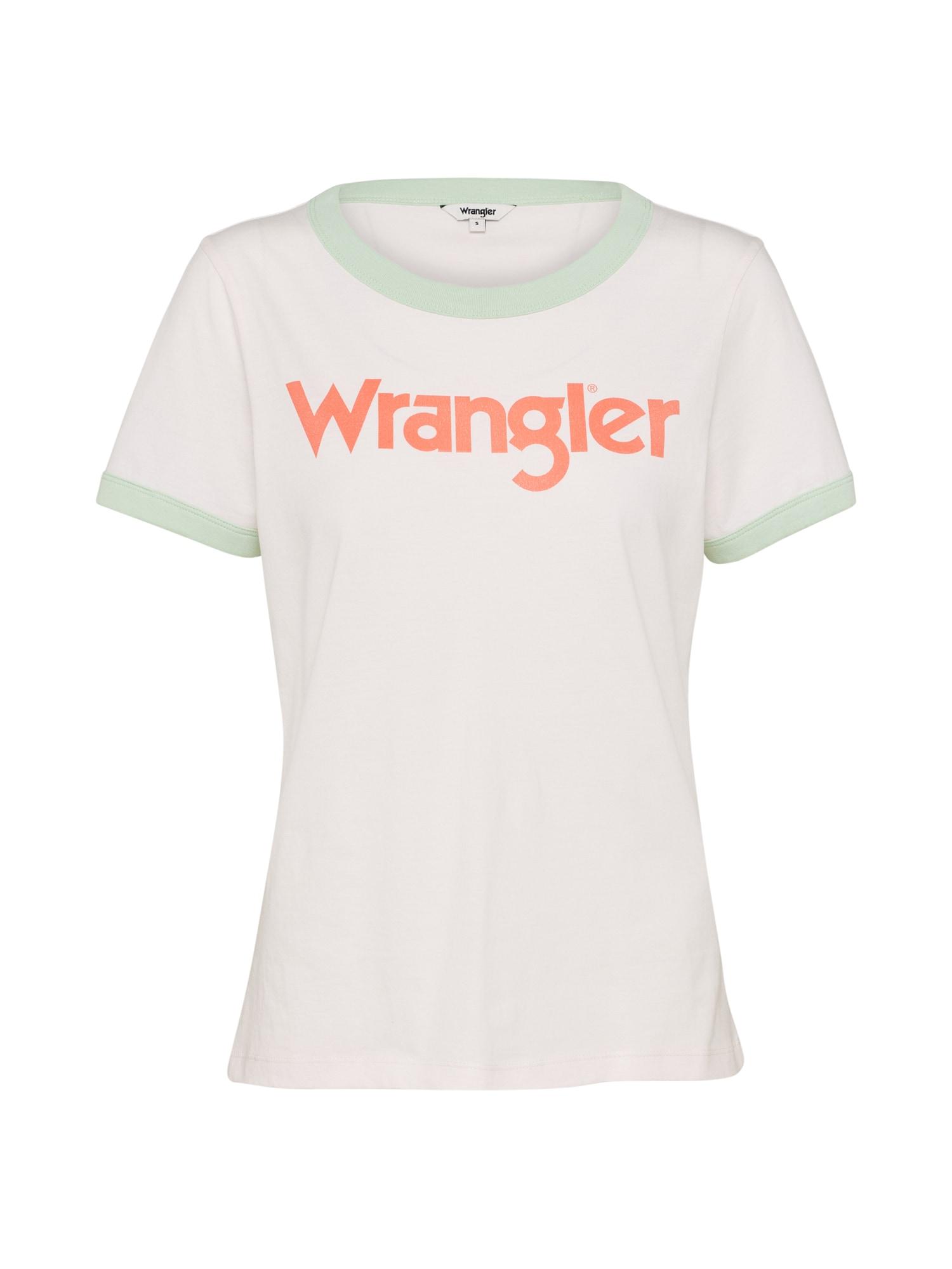 WRANGLER Dames Shirt RETRO KABEL champagne muntgroen sinaasappel