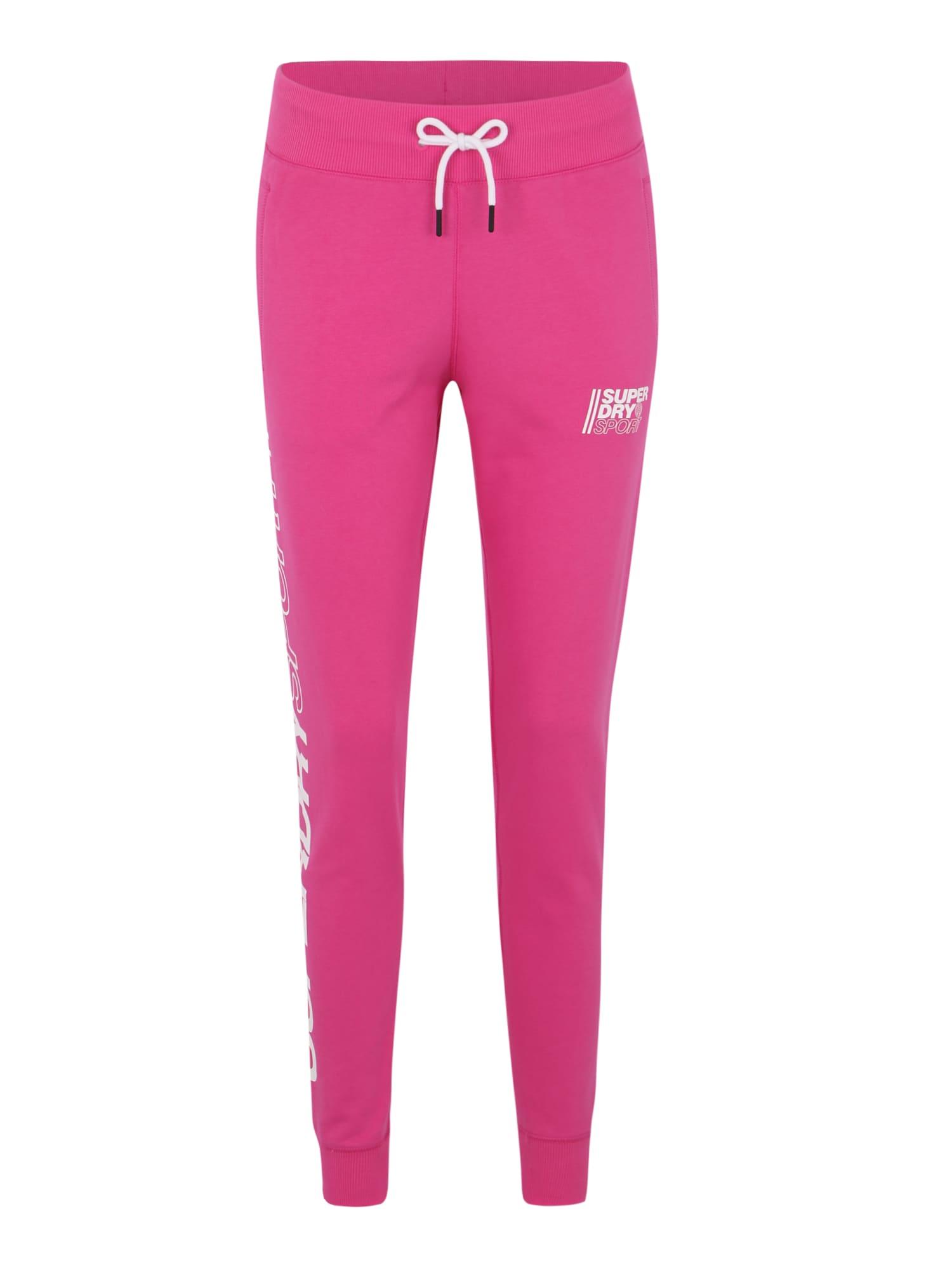 Sportovní kalhoty Core Sport Joggers pink Superdry