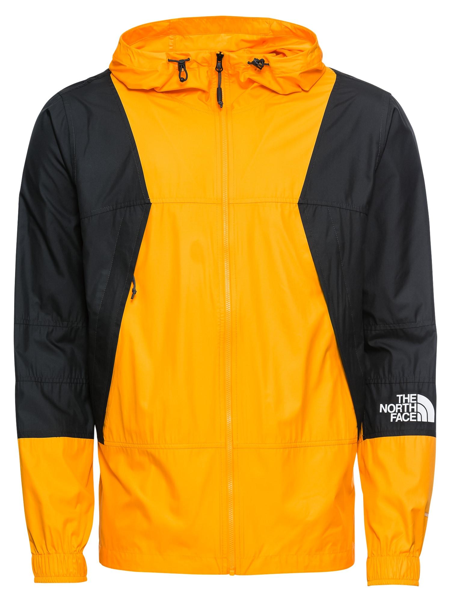 Funkční bunda Windshell tmavě hnědá oranžová THE NORTH FACE