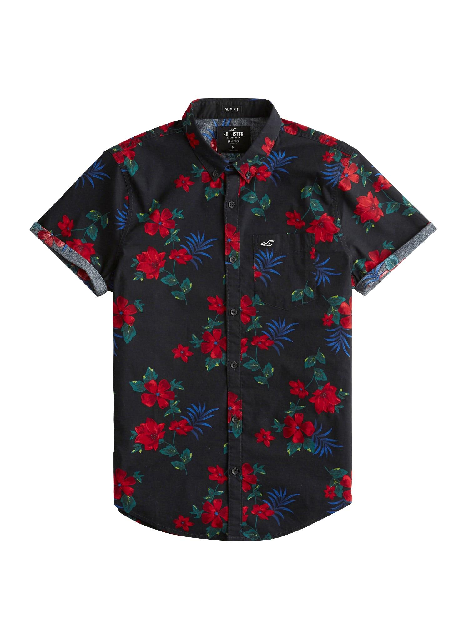 Košile červená černá HOLLISTER