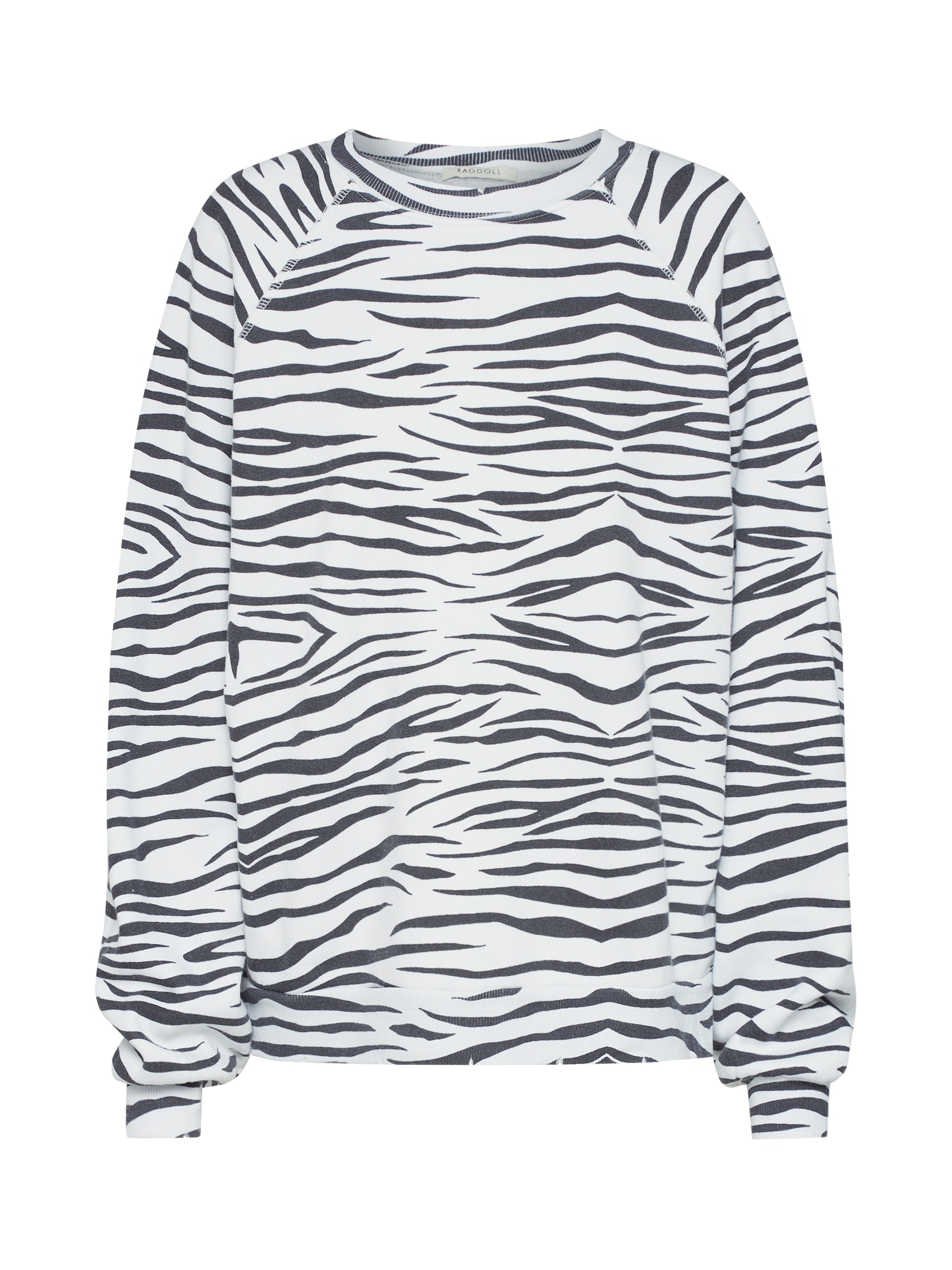 Mikina Oversized Sweatshirt černá bílá Ragdoll LA