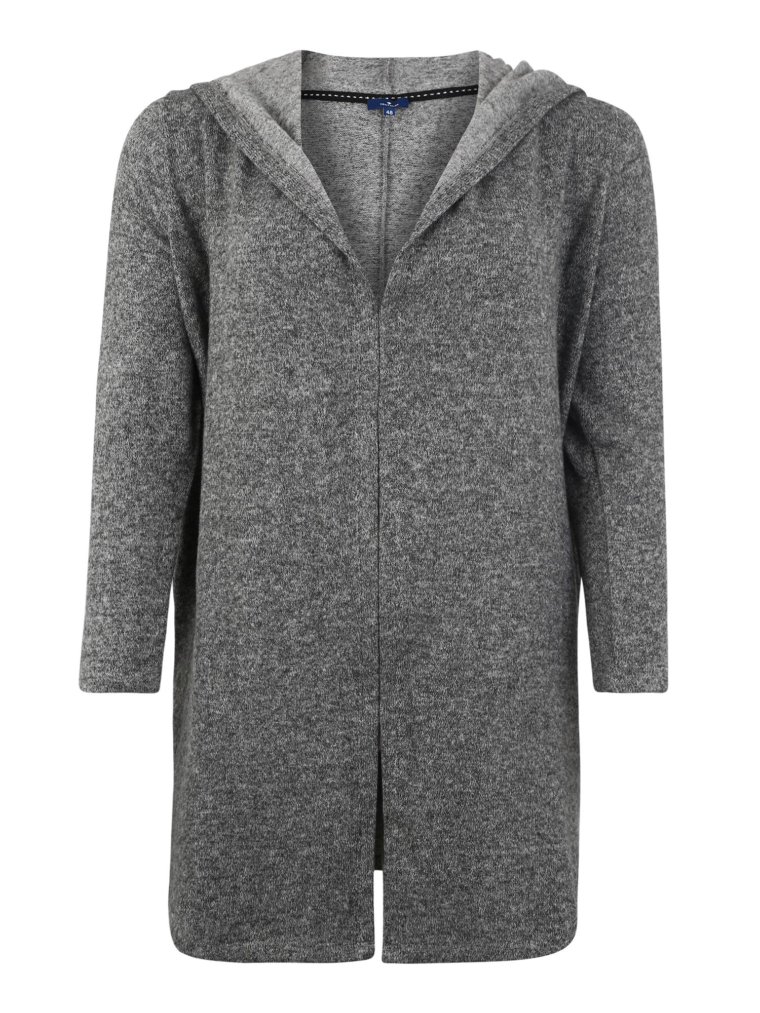 Tom Tailor Women + Kardigan 'sweatjacket cosy fabric'  šedý melír