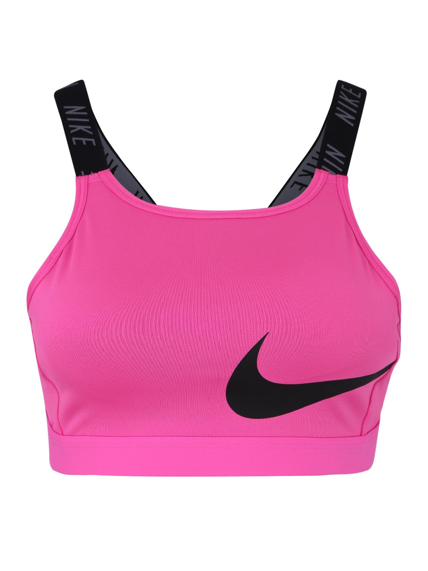 Sportovní podprsenka CLASSIC LOGO BRA 2 pink černá NIKE