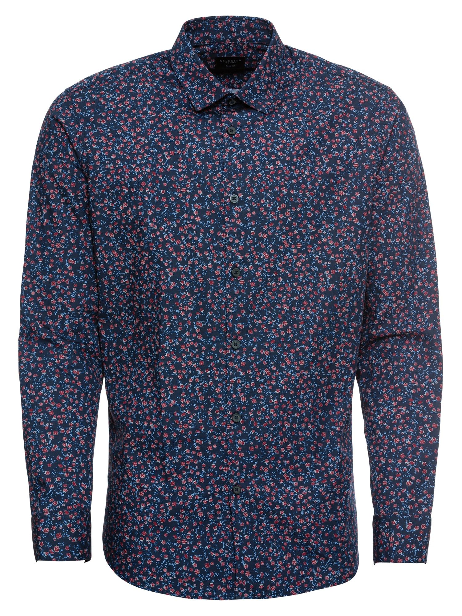 Košile SLIMRUNE námořnická modř humrová SELECTED HOMME