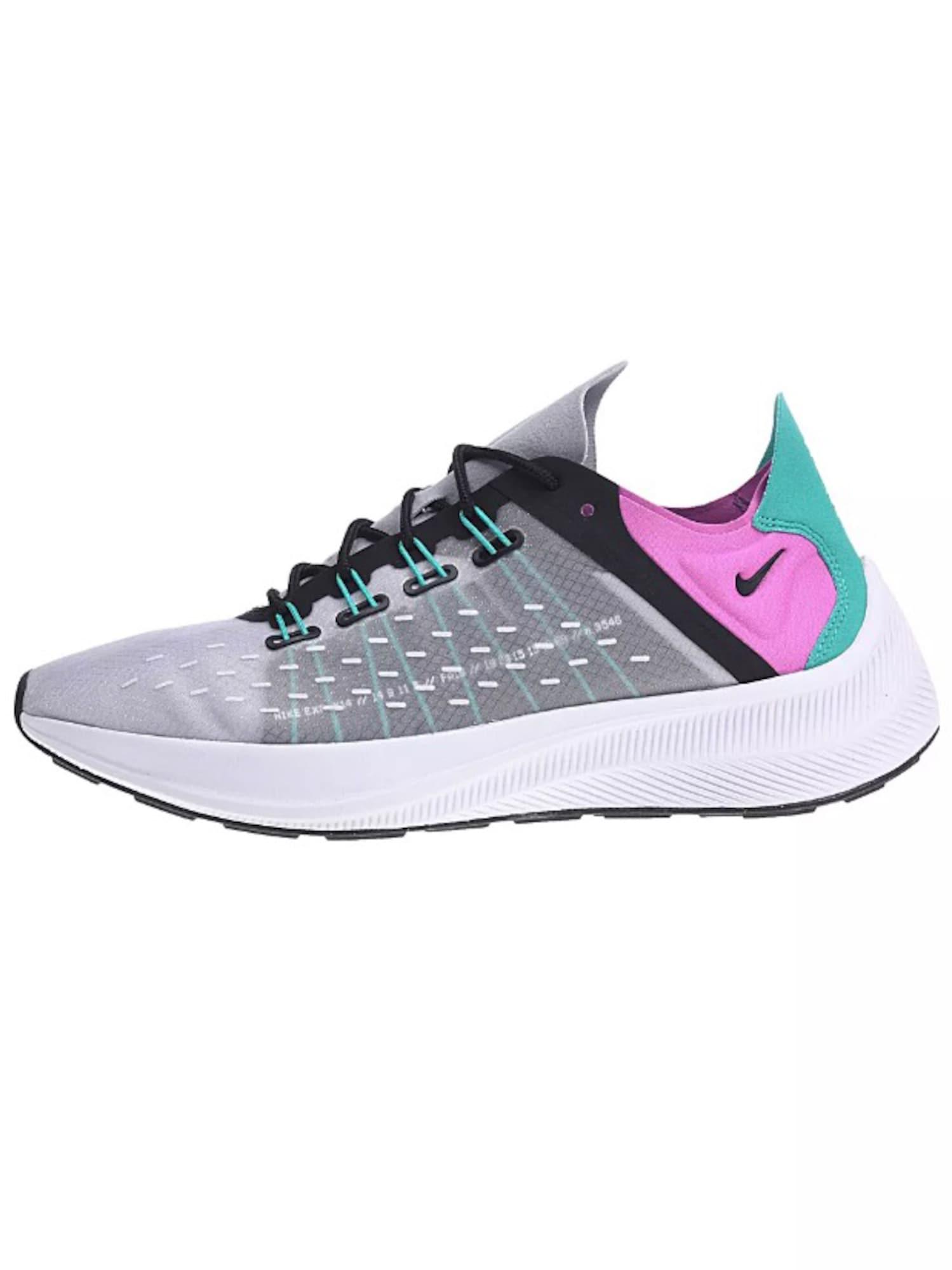 Nike Sportswear, Dames Sneakers laag 'Exp-X14', turquoise / grijs / pink