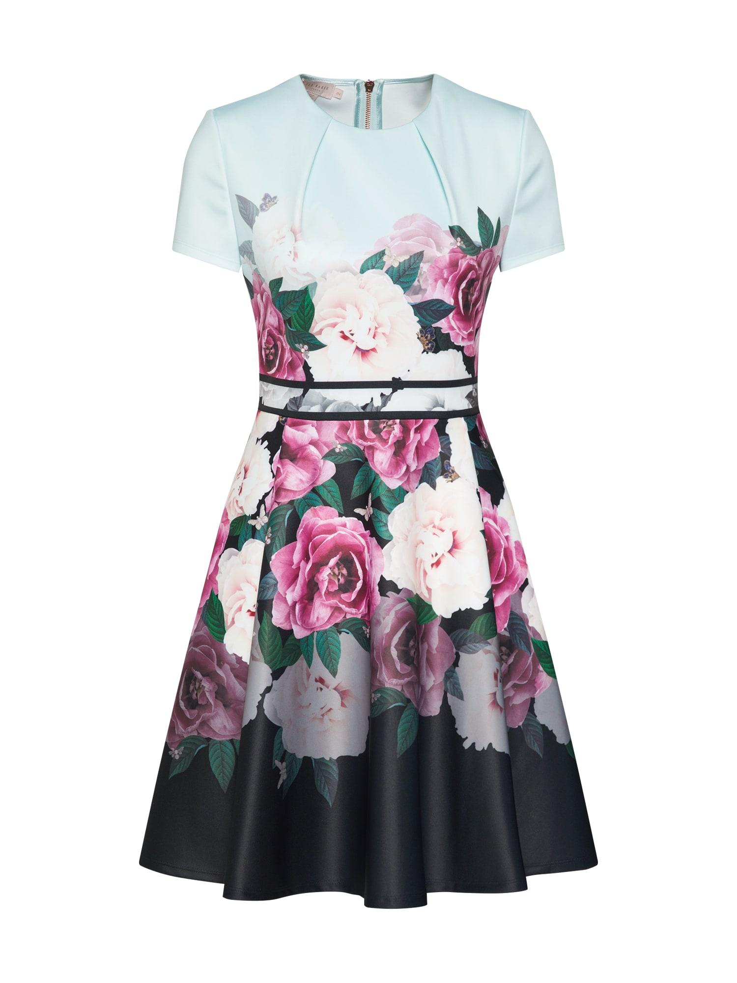 Koktejlové šaty WILMANA mátová růžová tmavě růžová Ted Baker