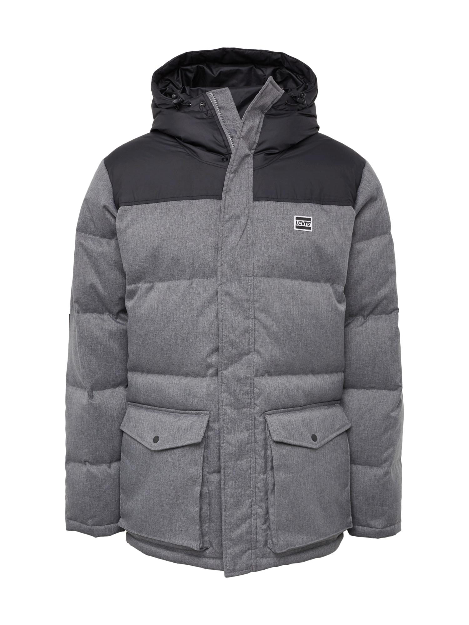 LEVIS Zimní bunda tmavě šedá LEVI'S