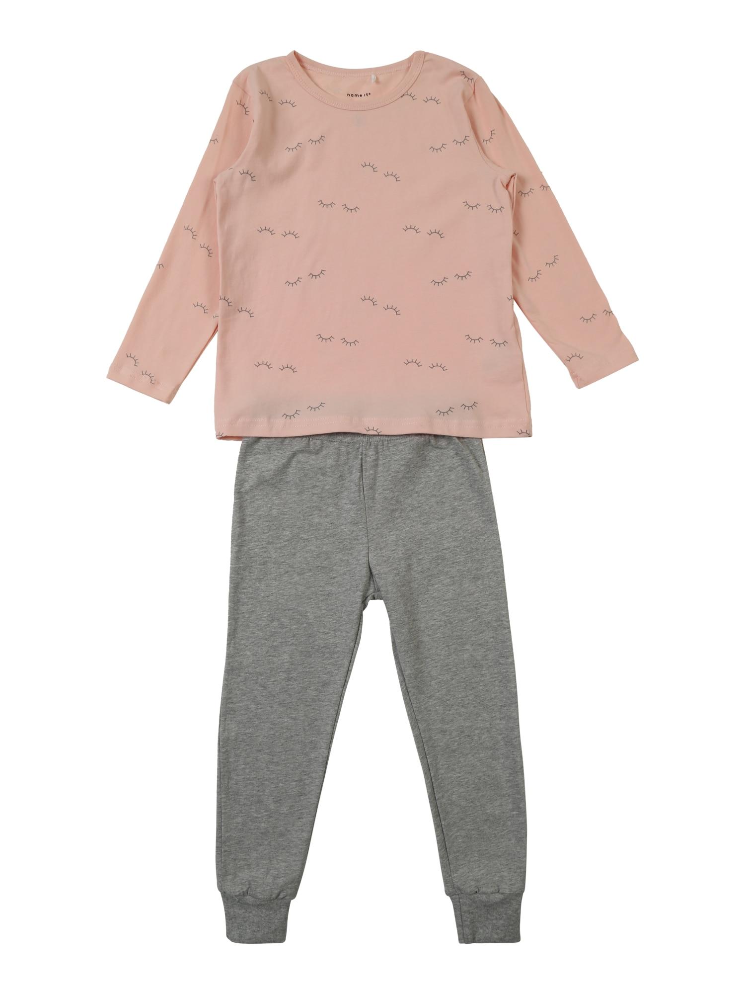 Pyžamo šedá růžová NAME IT