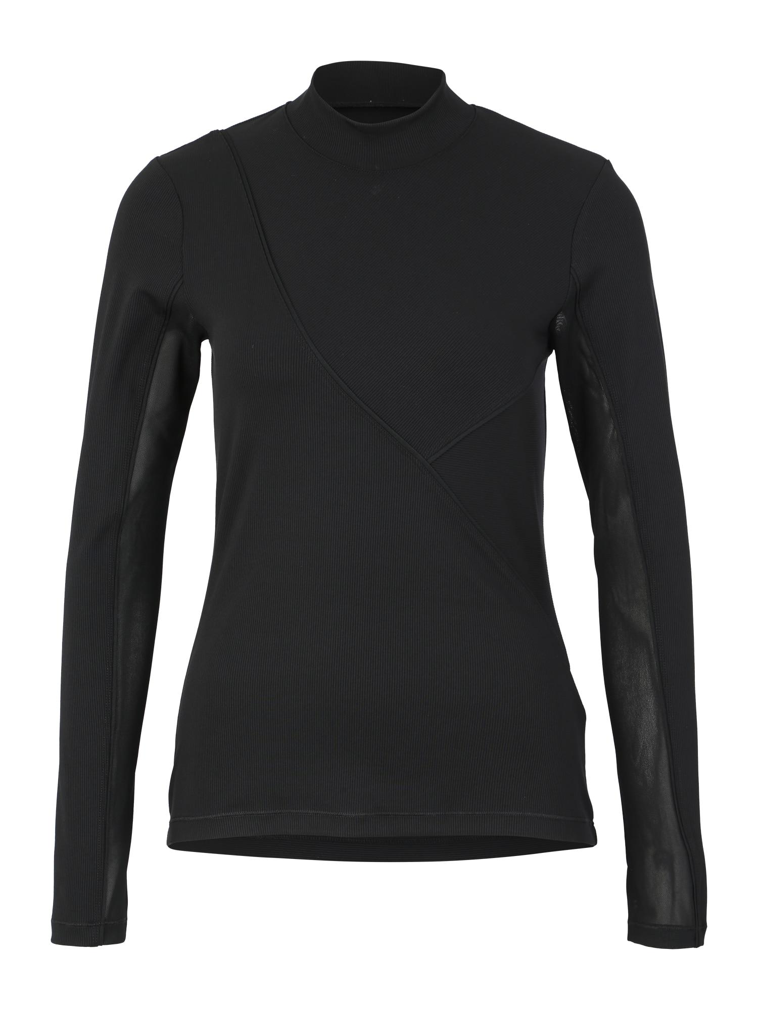 NIKE Funkčné tričko 'W NP HPRCL RIB LS TOP'  čierna