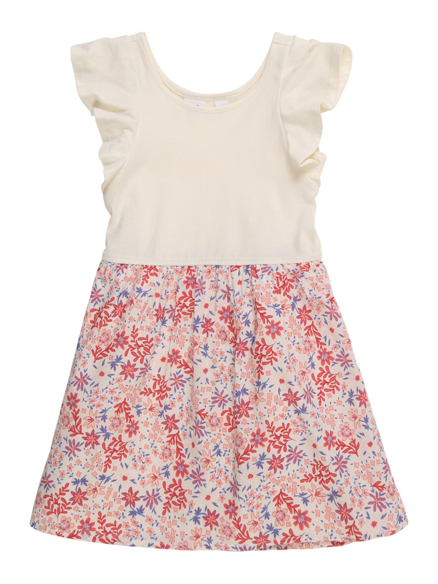 Šaty růžová barva bílé vlny GAP