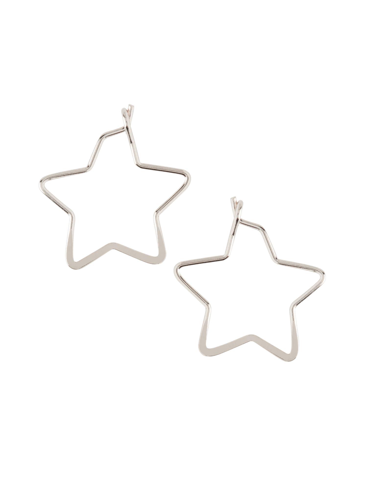 Náušnice small star hoop stříbrná Orelia