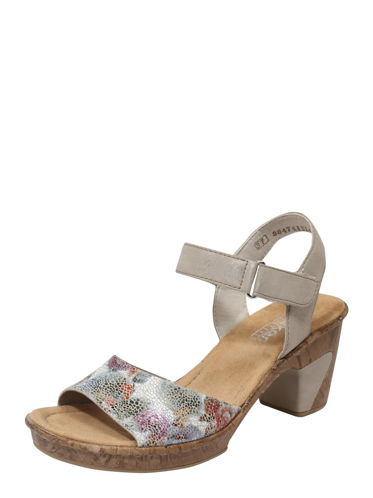 Sandály velbloudí mix barev RIEKER