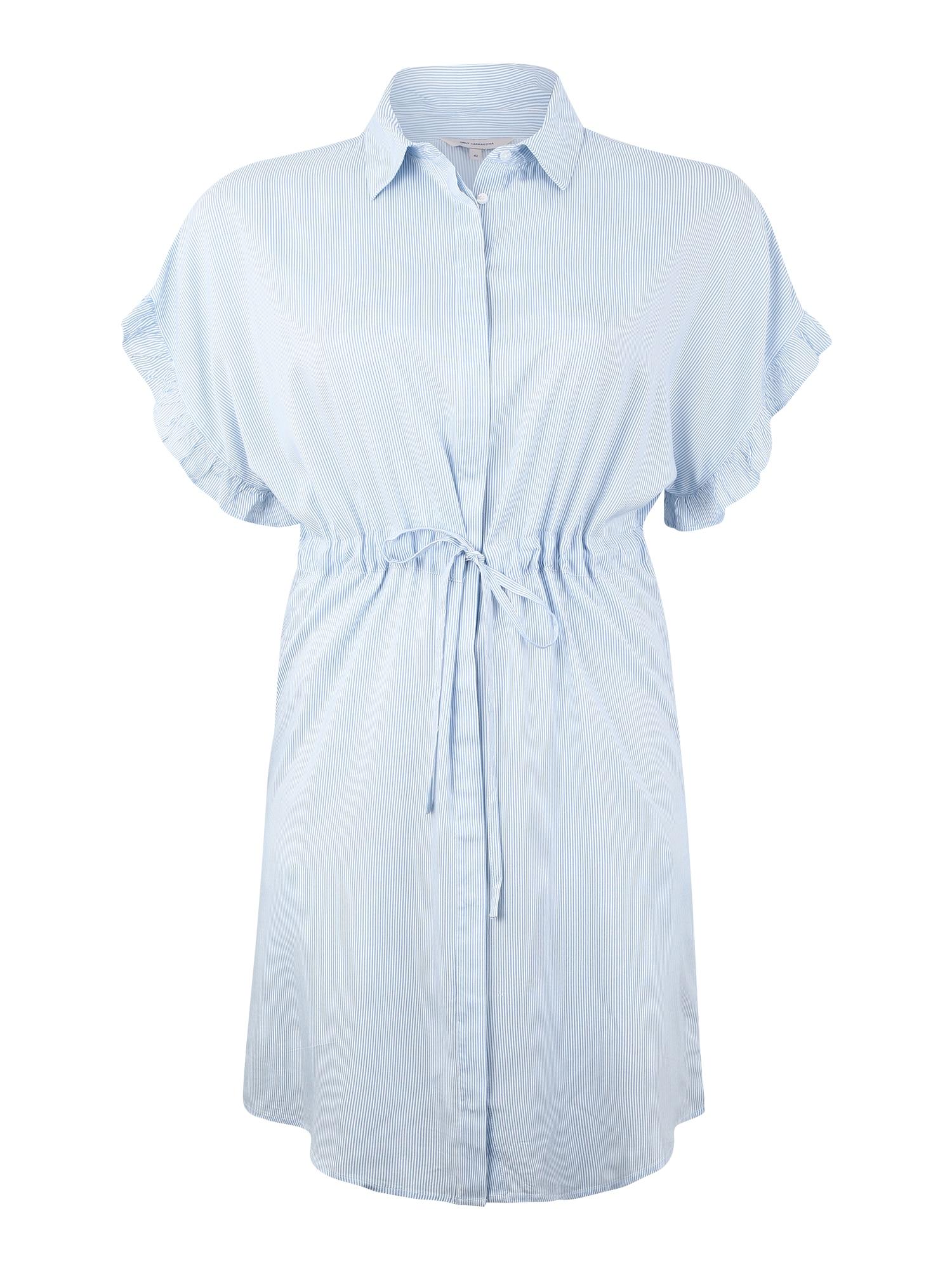 Košilové šaty CARVI světlemodrá bílá ONLY Carmakoma
