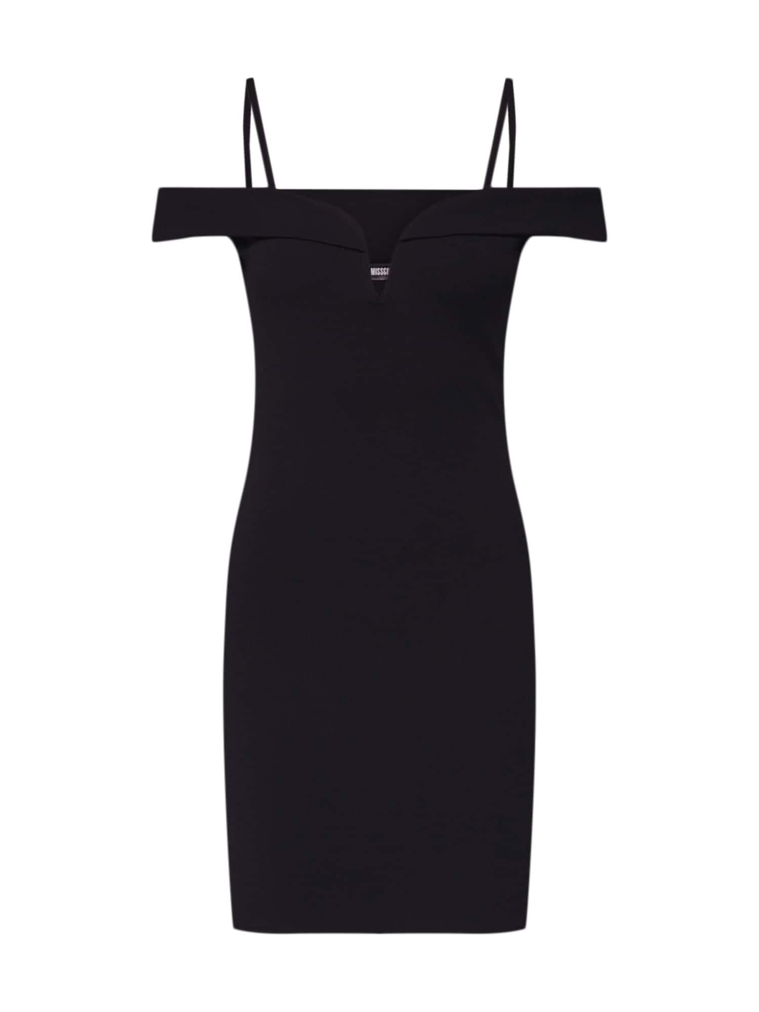 Koktejlové šaty V BAR černá Missguided