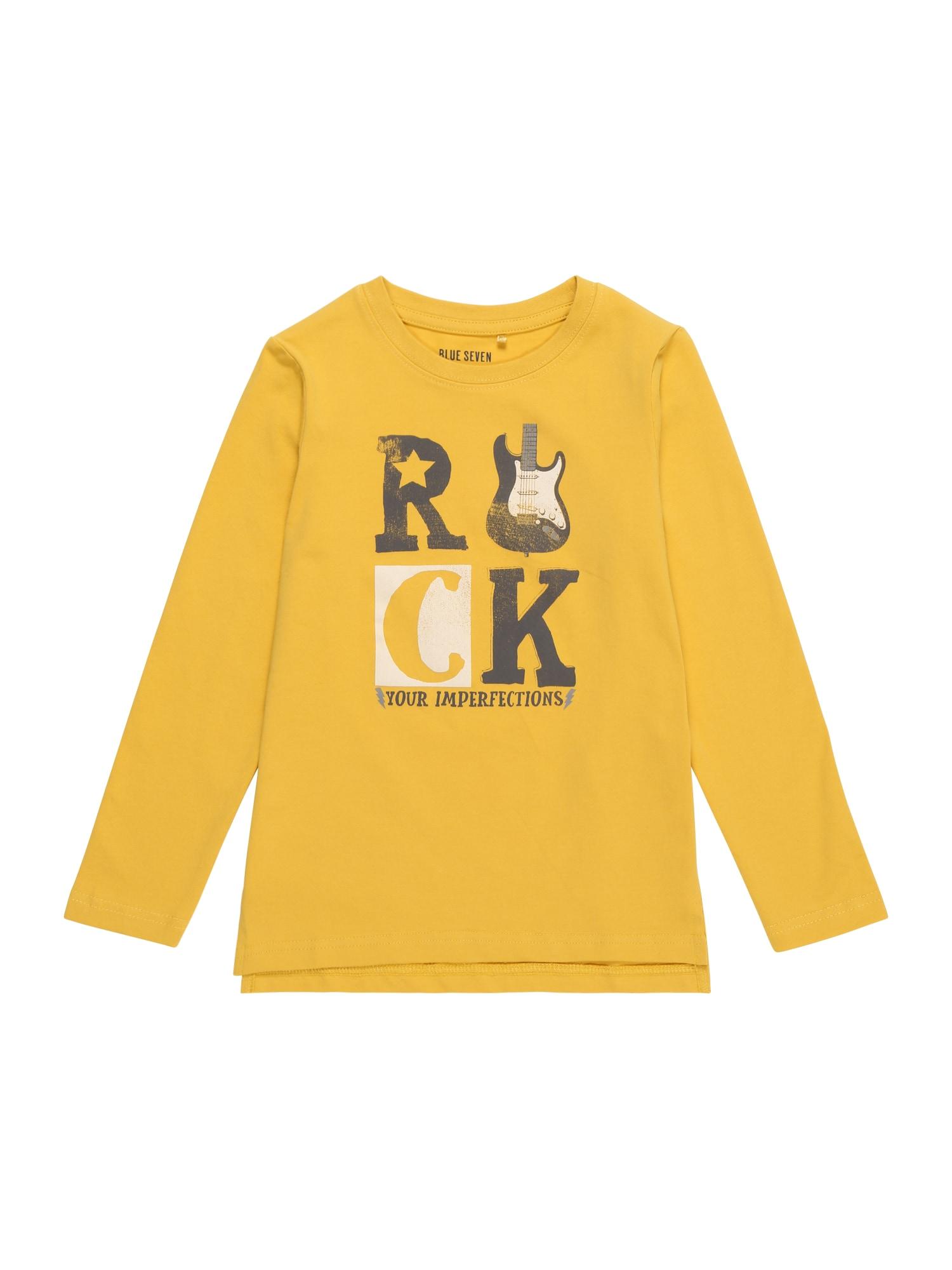 Tričko tmavě žlutá BLUE SEVEN