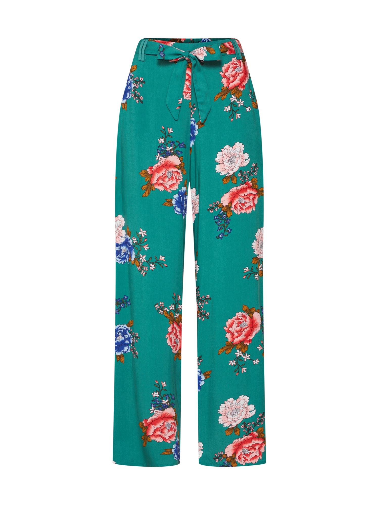 Kalhoty NOVA PALAZZO nefritová mix barev ONLY