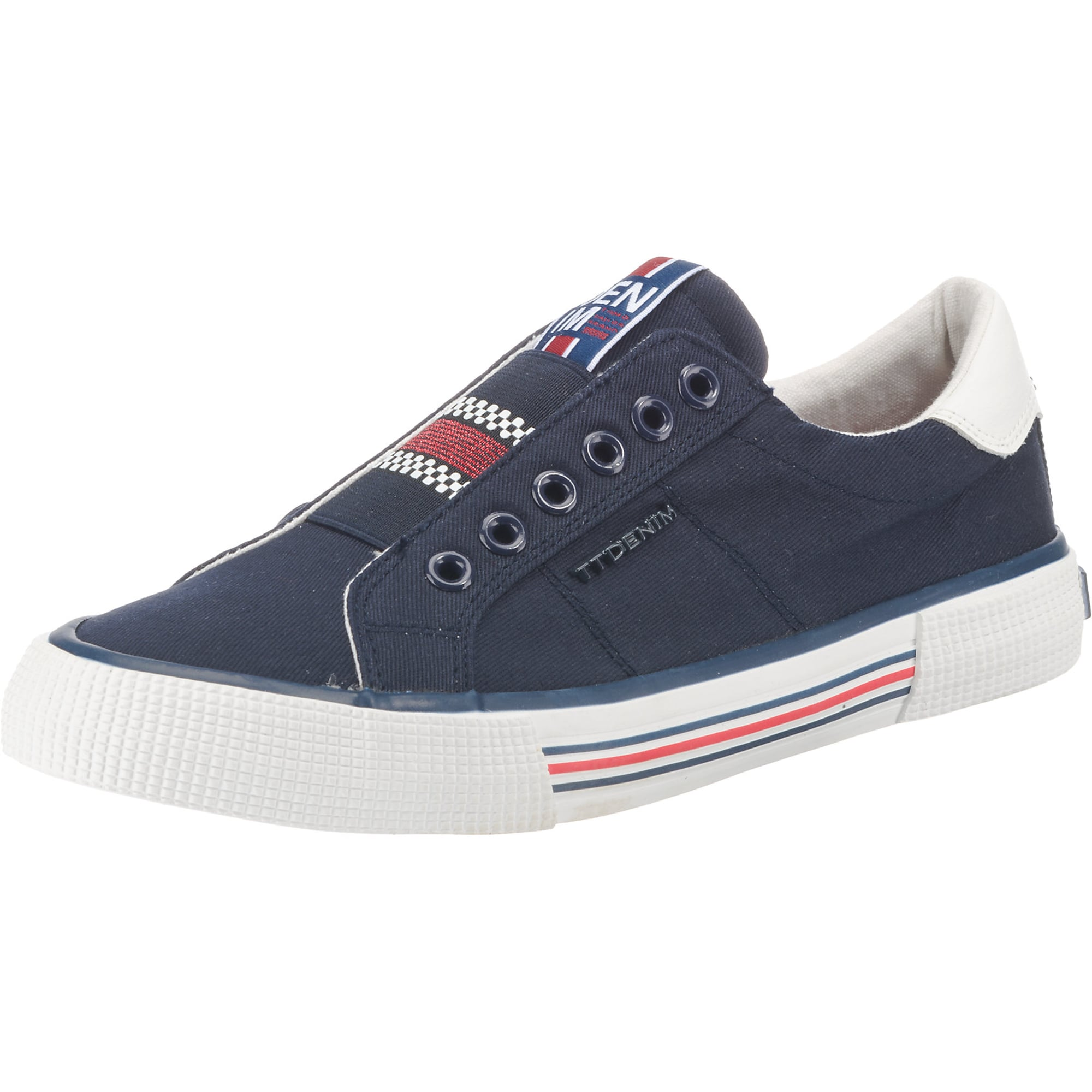 Slip on boty marine modrá mix barev TOM TAILOR