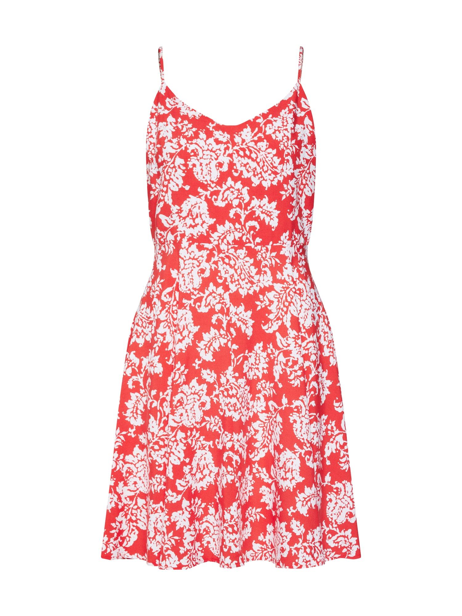 Letní šaty červená bílá GAP