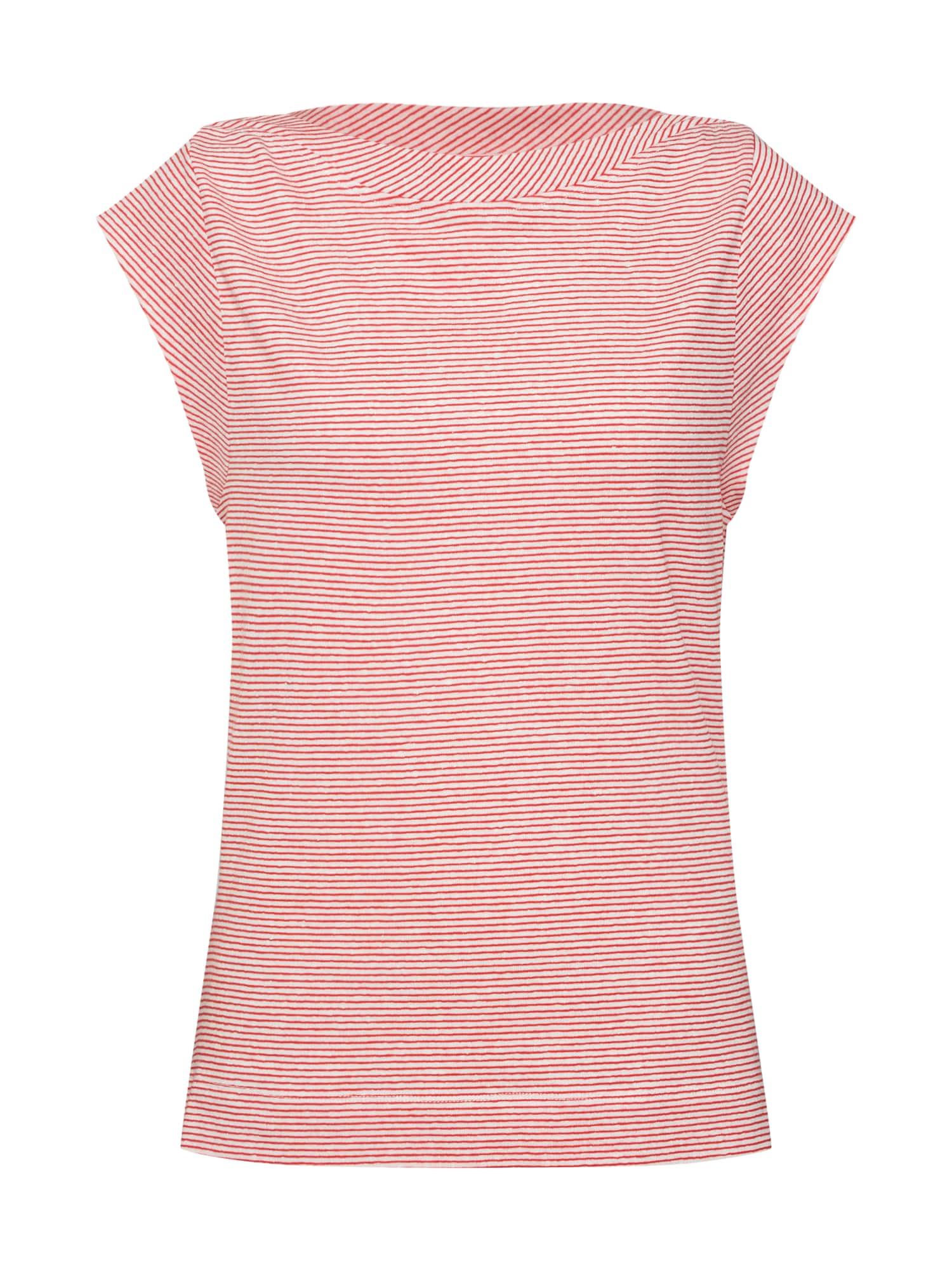 Tričko LINEN TEE OPEN NECK červená Calvin Klein