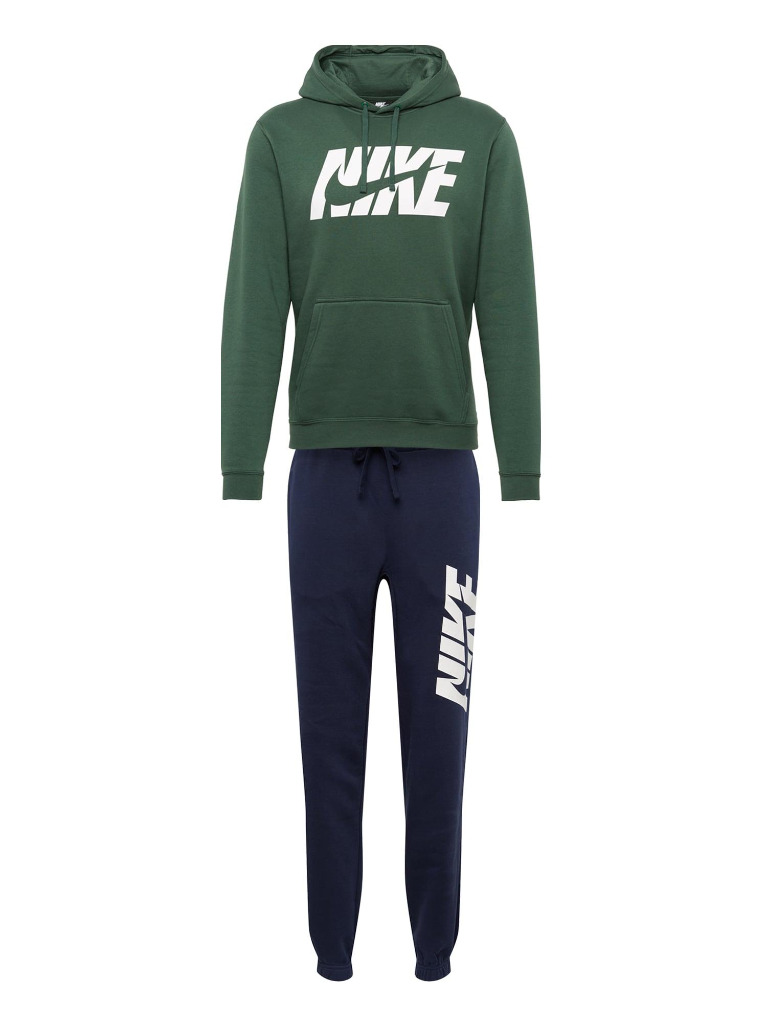 Domácí oblečení M NSW TRK SUIT FLC GX tmavě modrá tmavě zelená Nike Sportswear