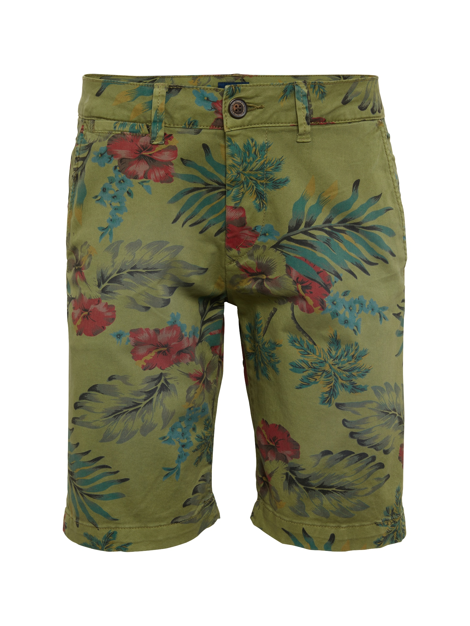 Pepe Jeans Heren Chino MC QUEEN SHORT HAWAIIAN olijfgroen gemengde kleuren