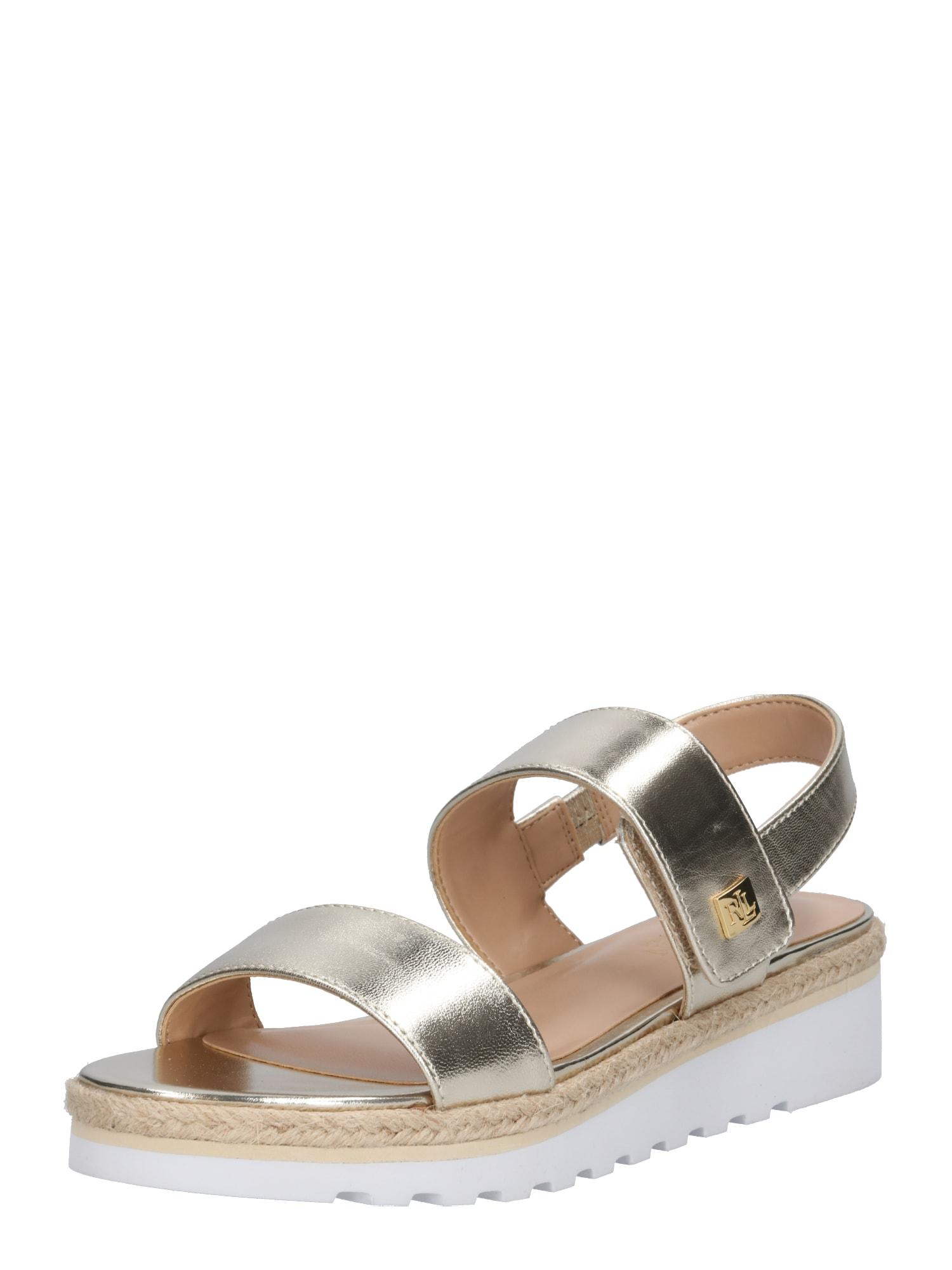 Sandály JEWELLE stříbrná Lauren Ralph Lauren