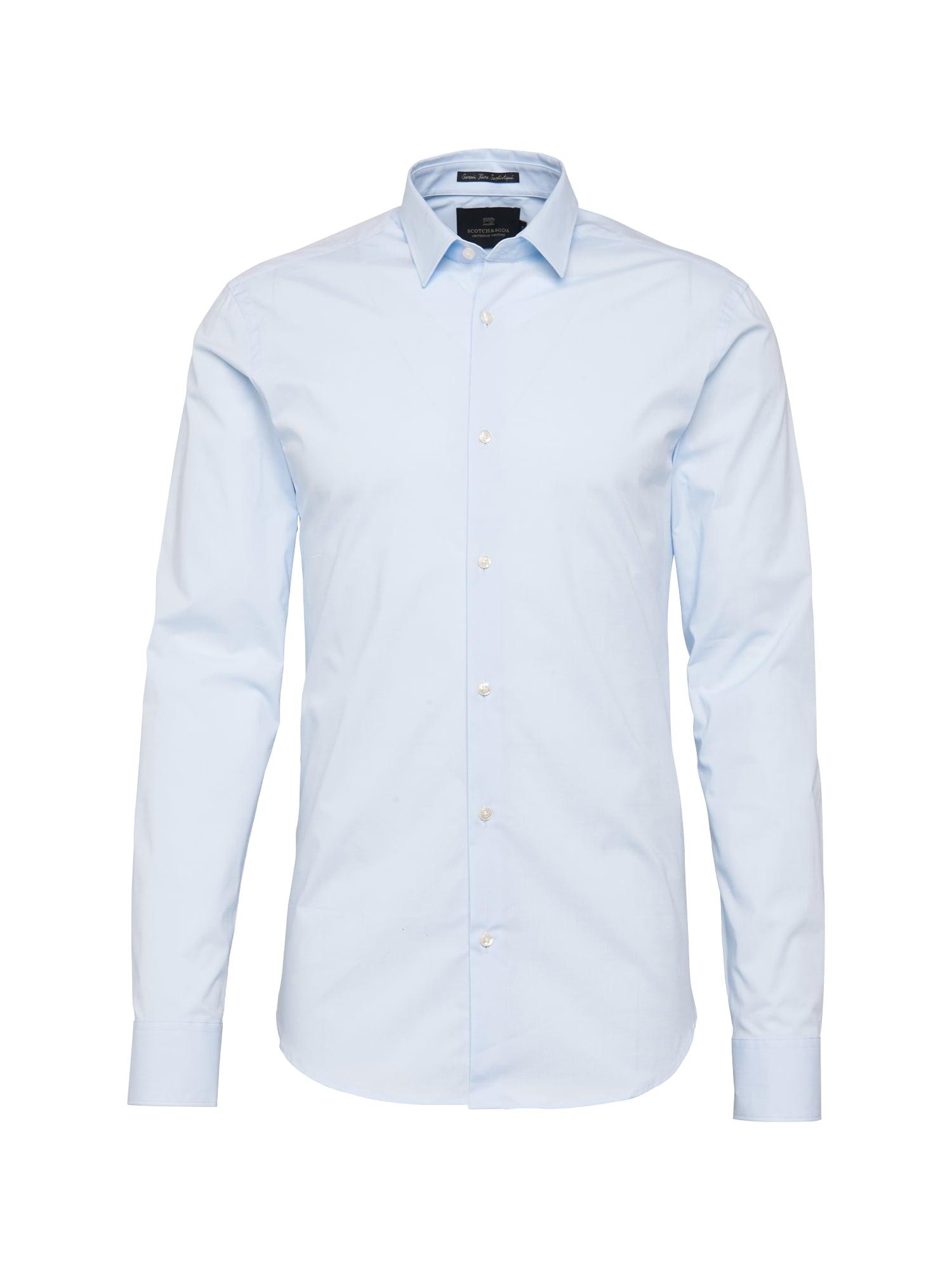 Společenská košile NOS - Classic longsleeve shirt in crispy cottonlycra qualit světlemodrá SCOTCH & SODA