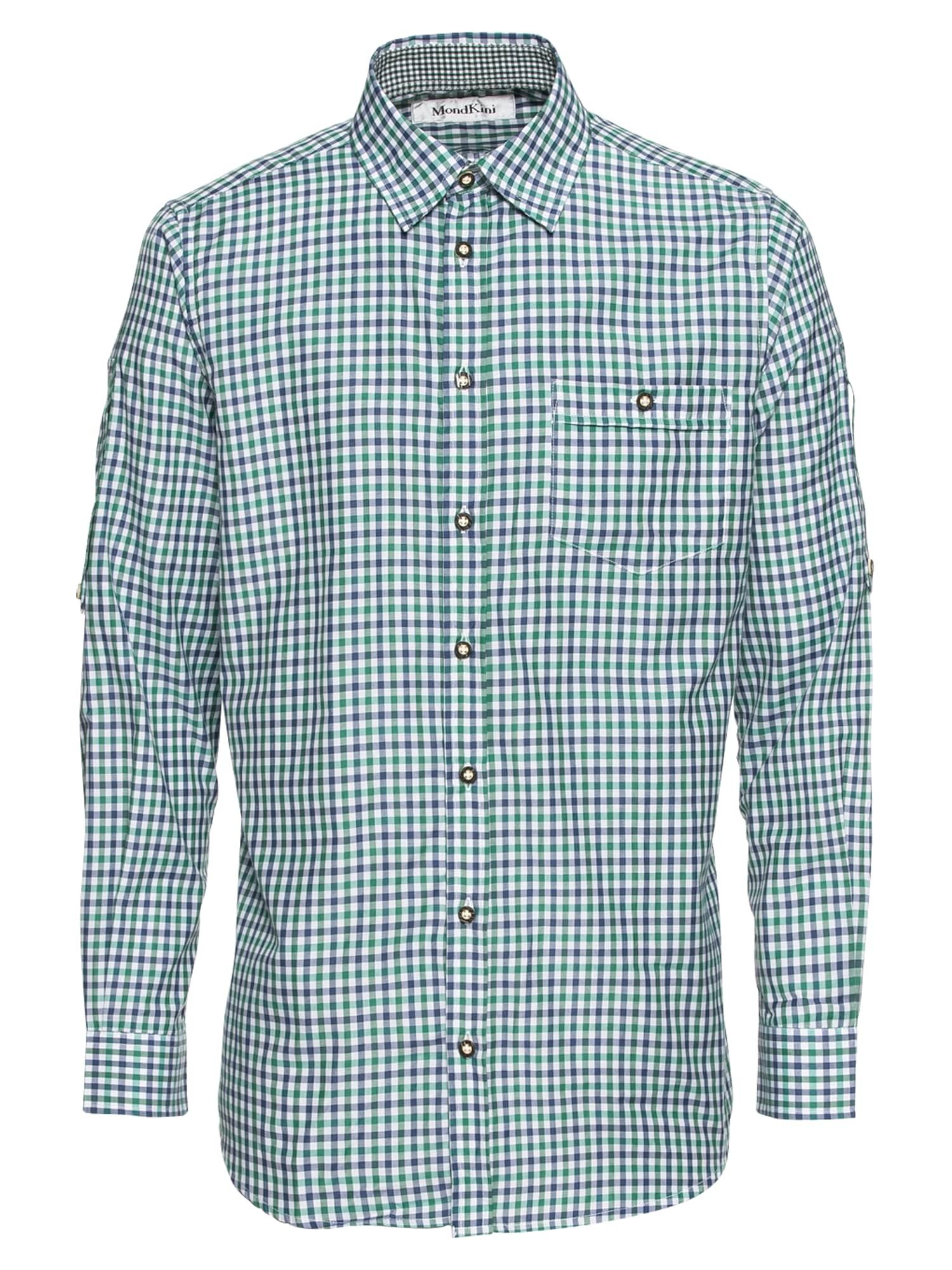 Krojová košile Lukas modrá zelená MONDKINI