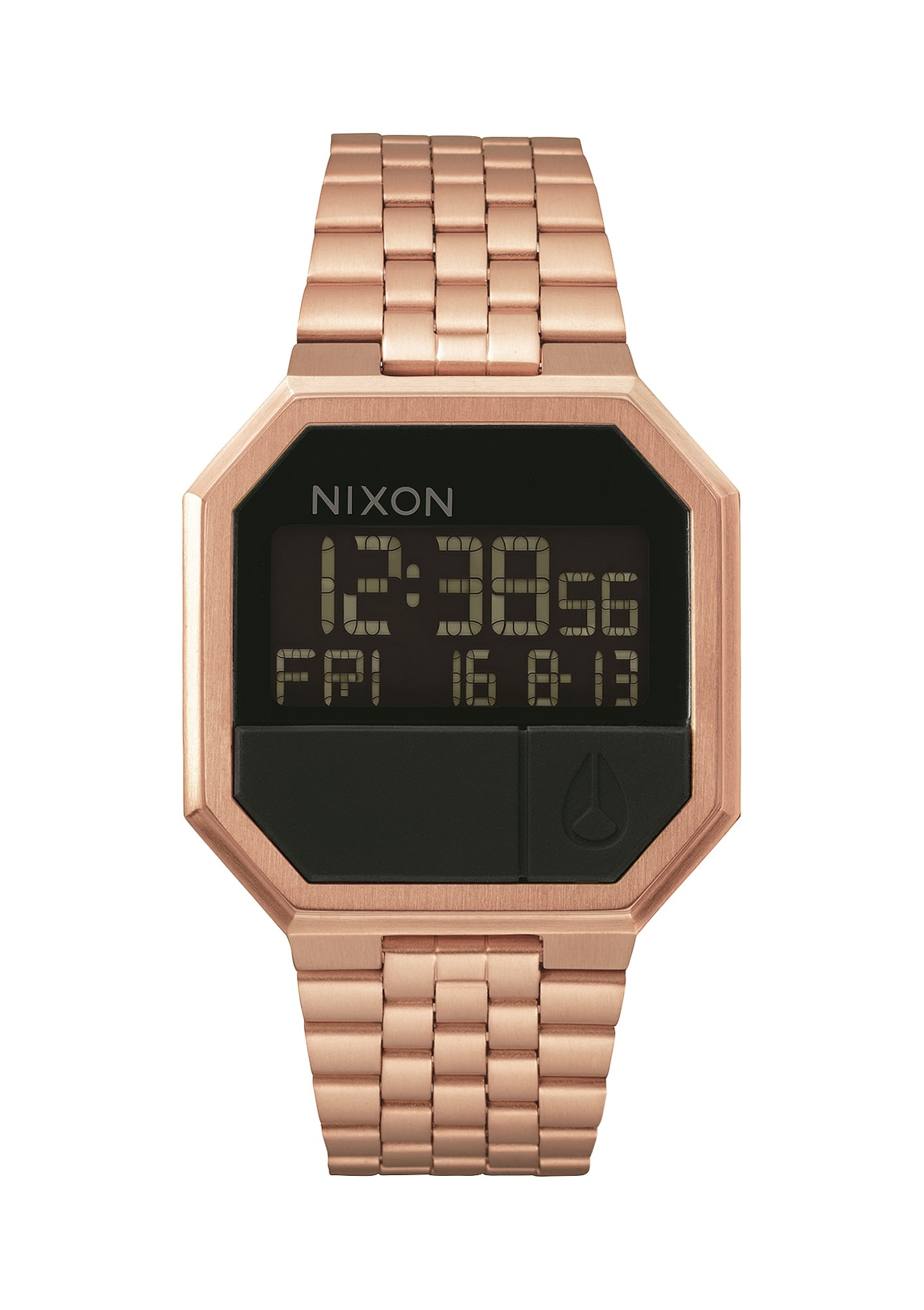 Digitální hodinky Re-Run růže Nixon