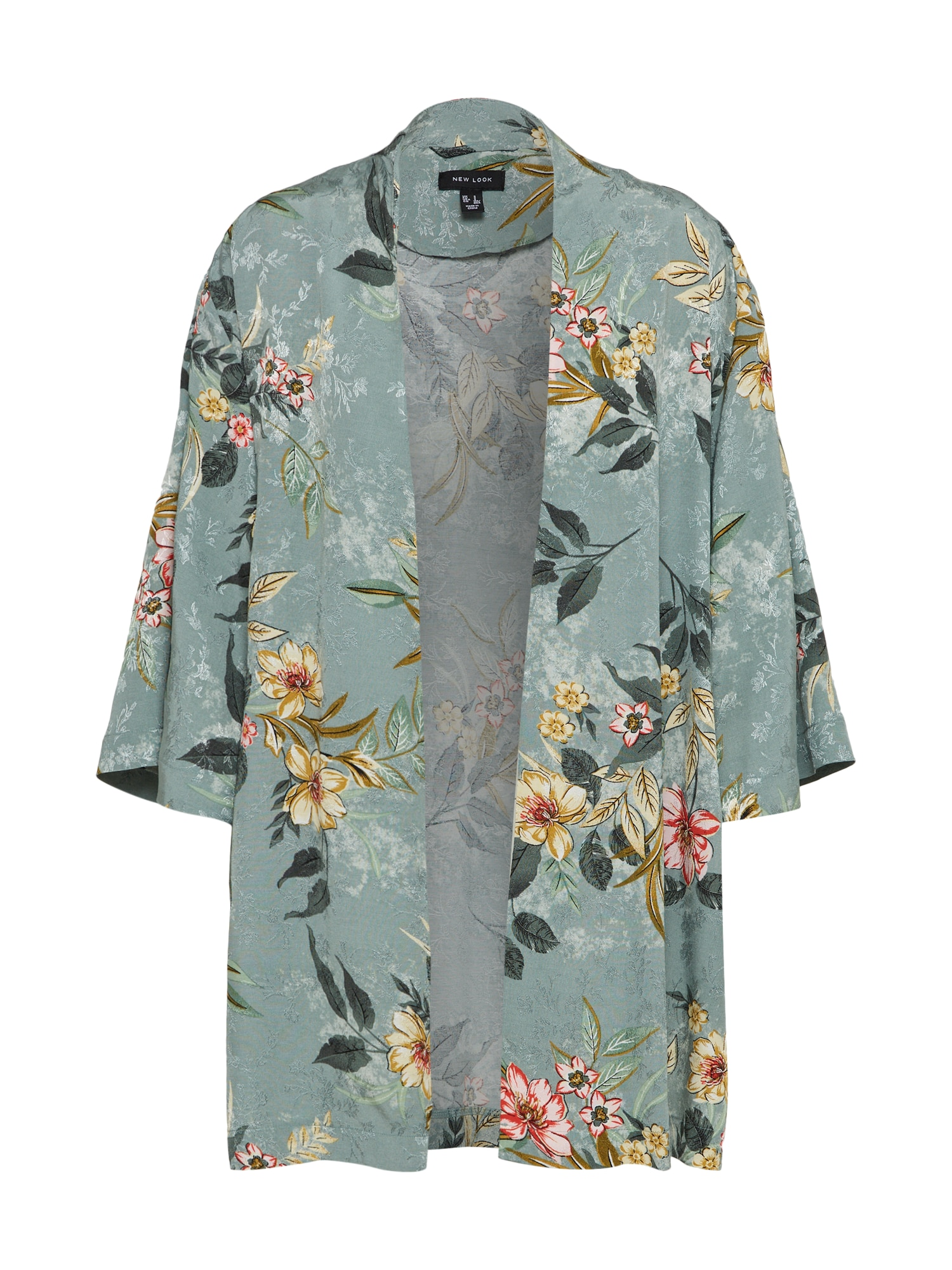 NEW LOOK, Dames Kimono, beige / mintgroen / donkergroen / rosa