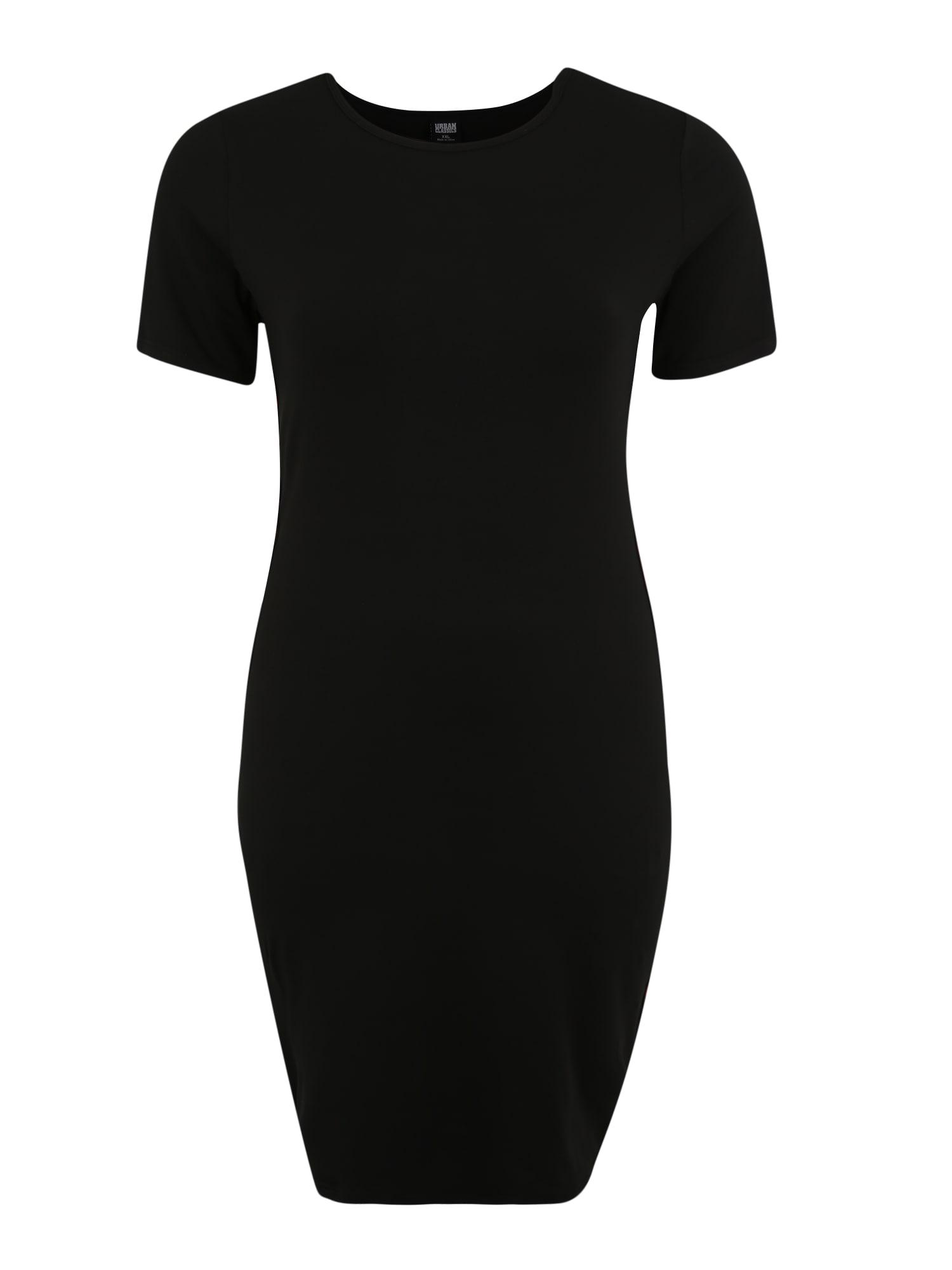 Šaty mix barev černá Urban Classics Curvy