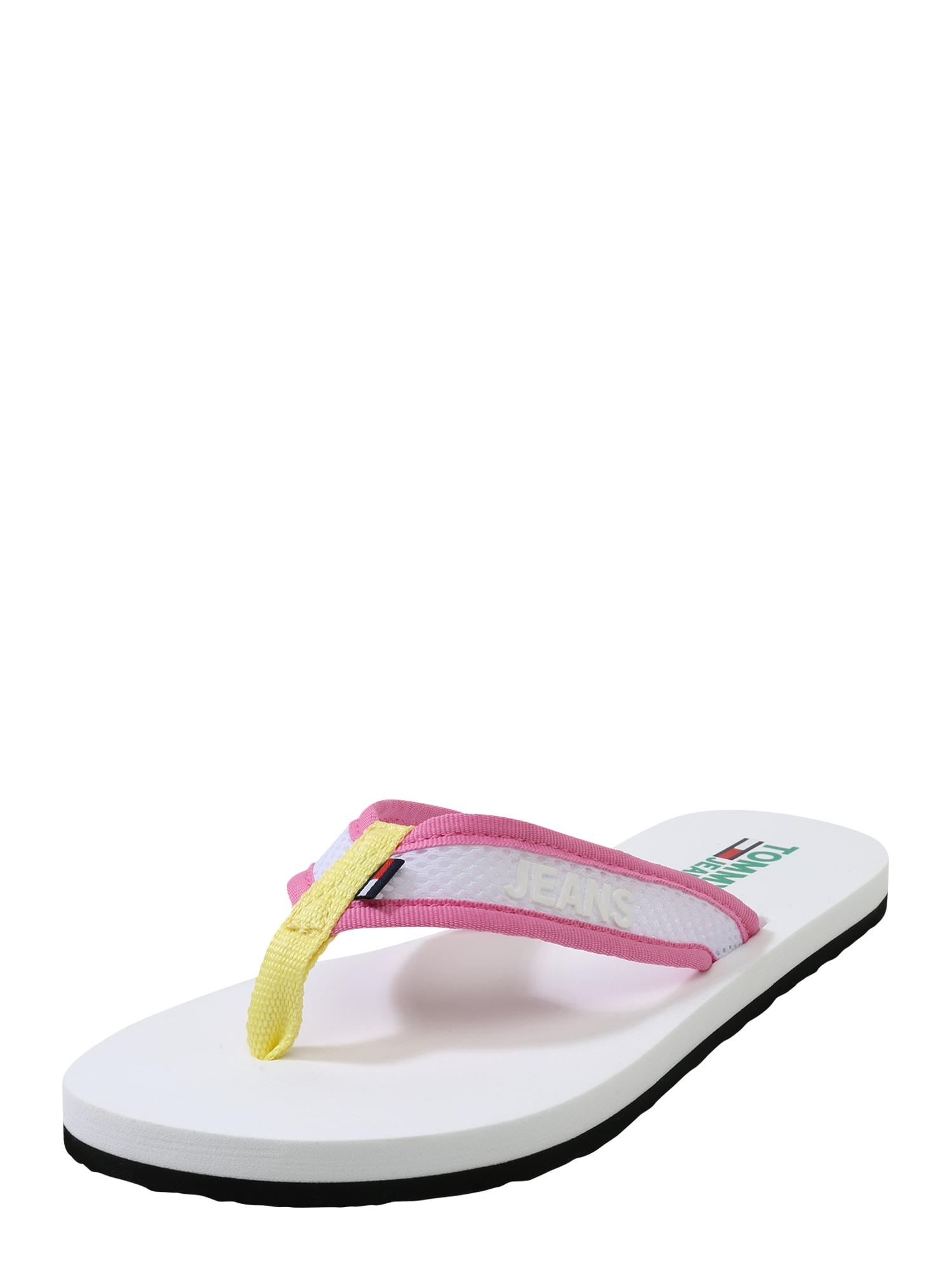Tommy Jeans Žabky 'URSULA 5D'  ružová / biela
